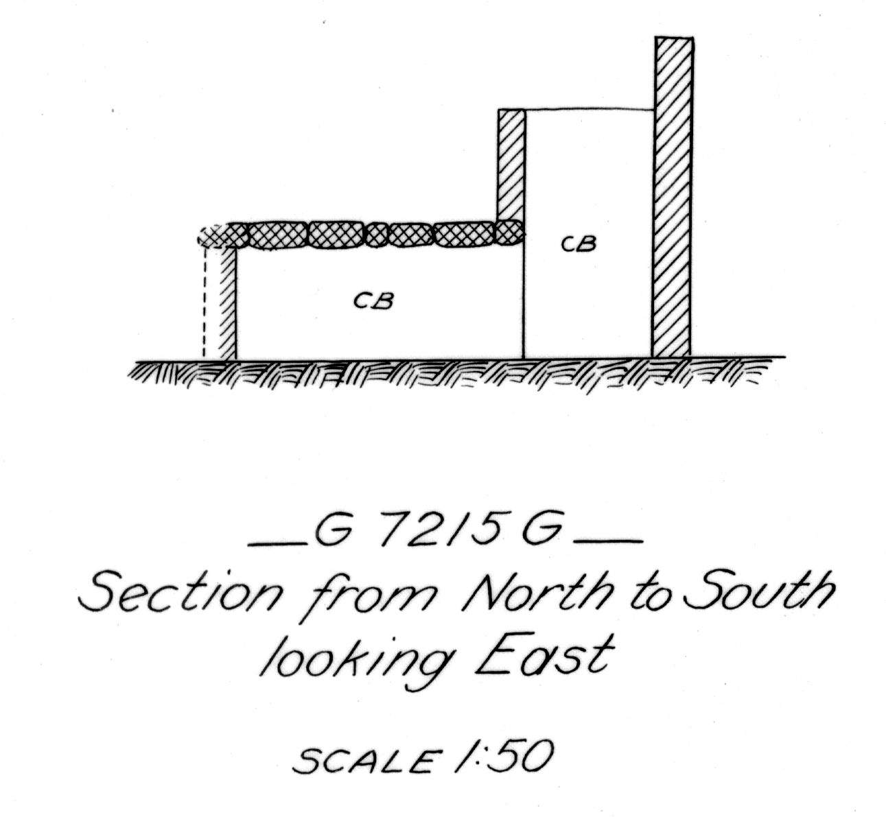 Maps and plans: G 7215, Shaft G