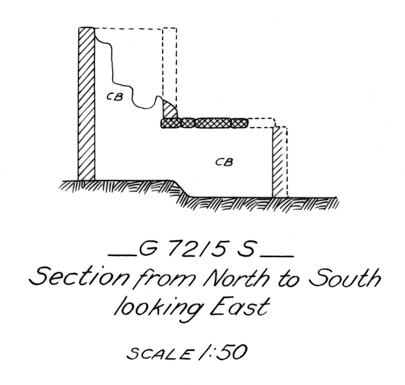 Maps and plans: G 7215, Shaft S