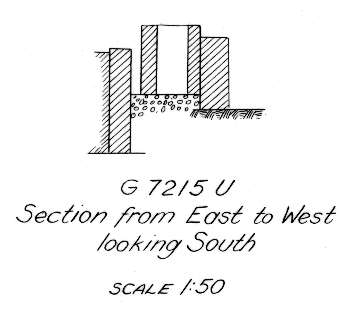 Maps and plans: G 7215, Shaft U