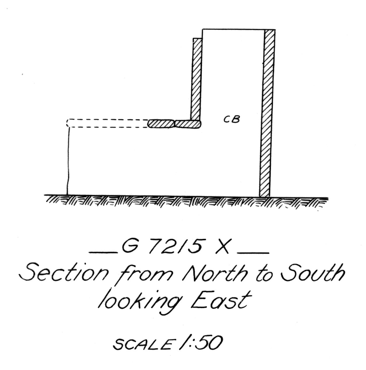 Maps and plans: G 7215, Shaft X