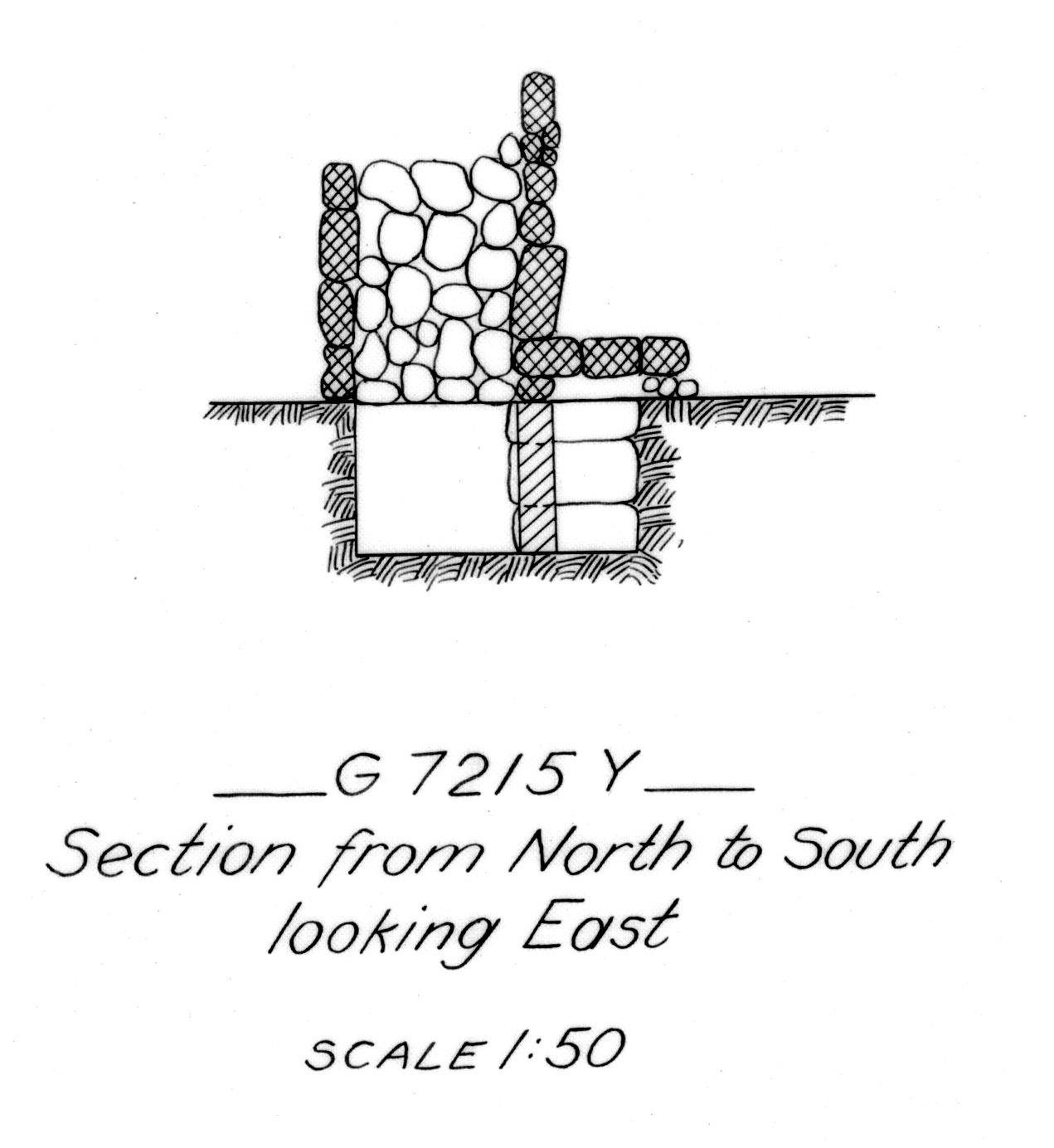 Maps and plans: G 7215, Shaft Y