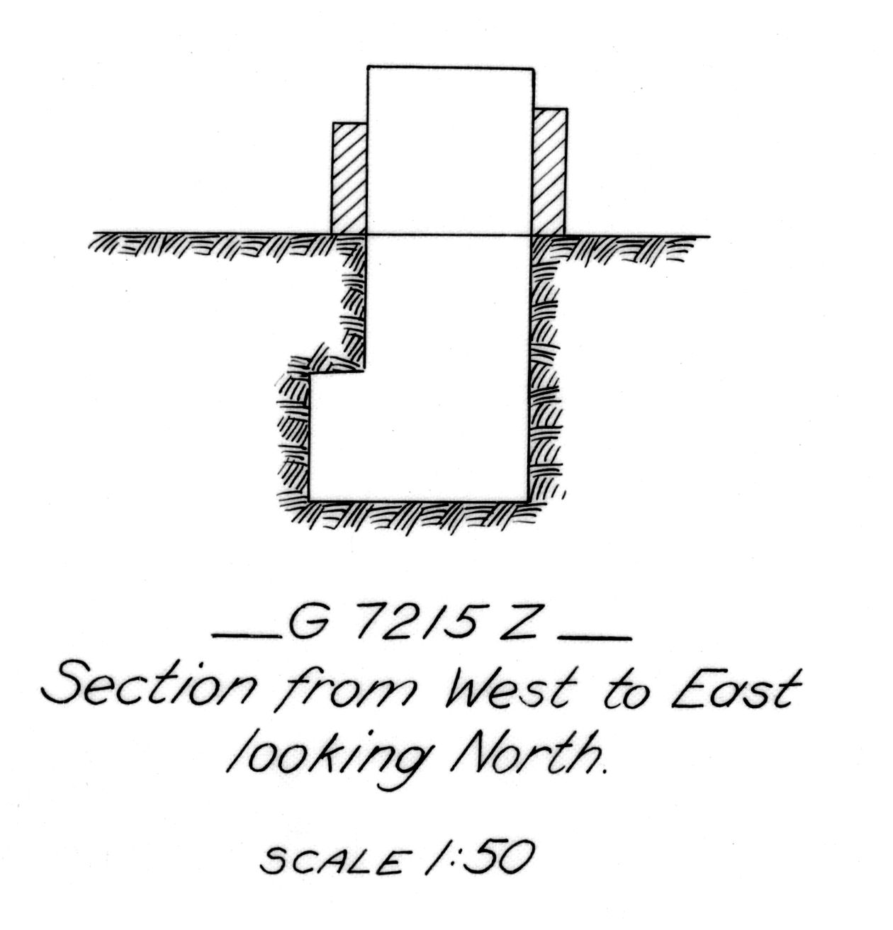 Maps and plans: G 7215, Shaft Z