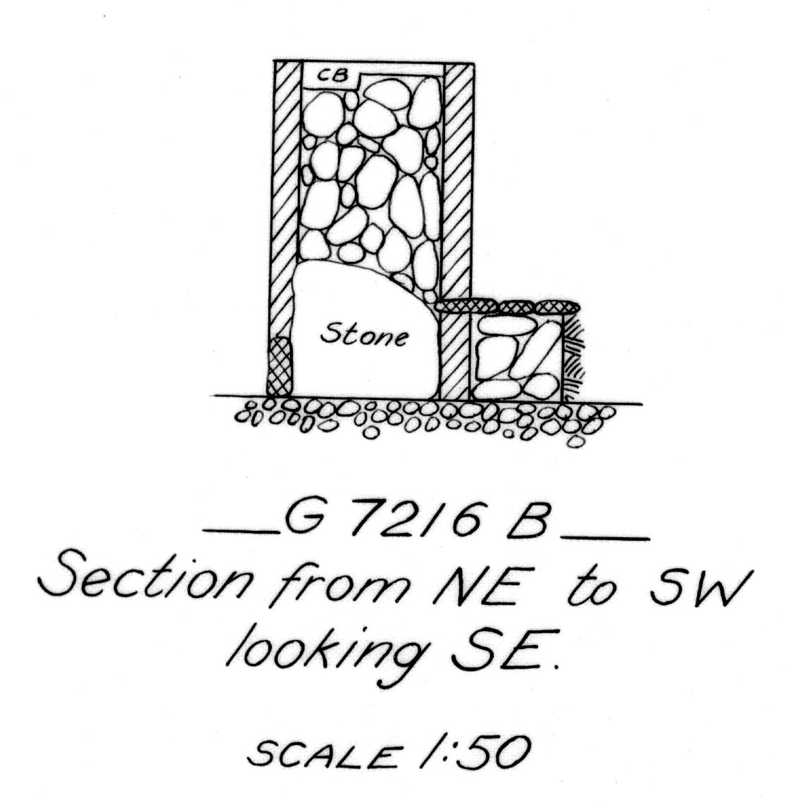 Maps and plans: G 7216, Shaft B
