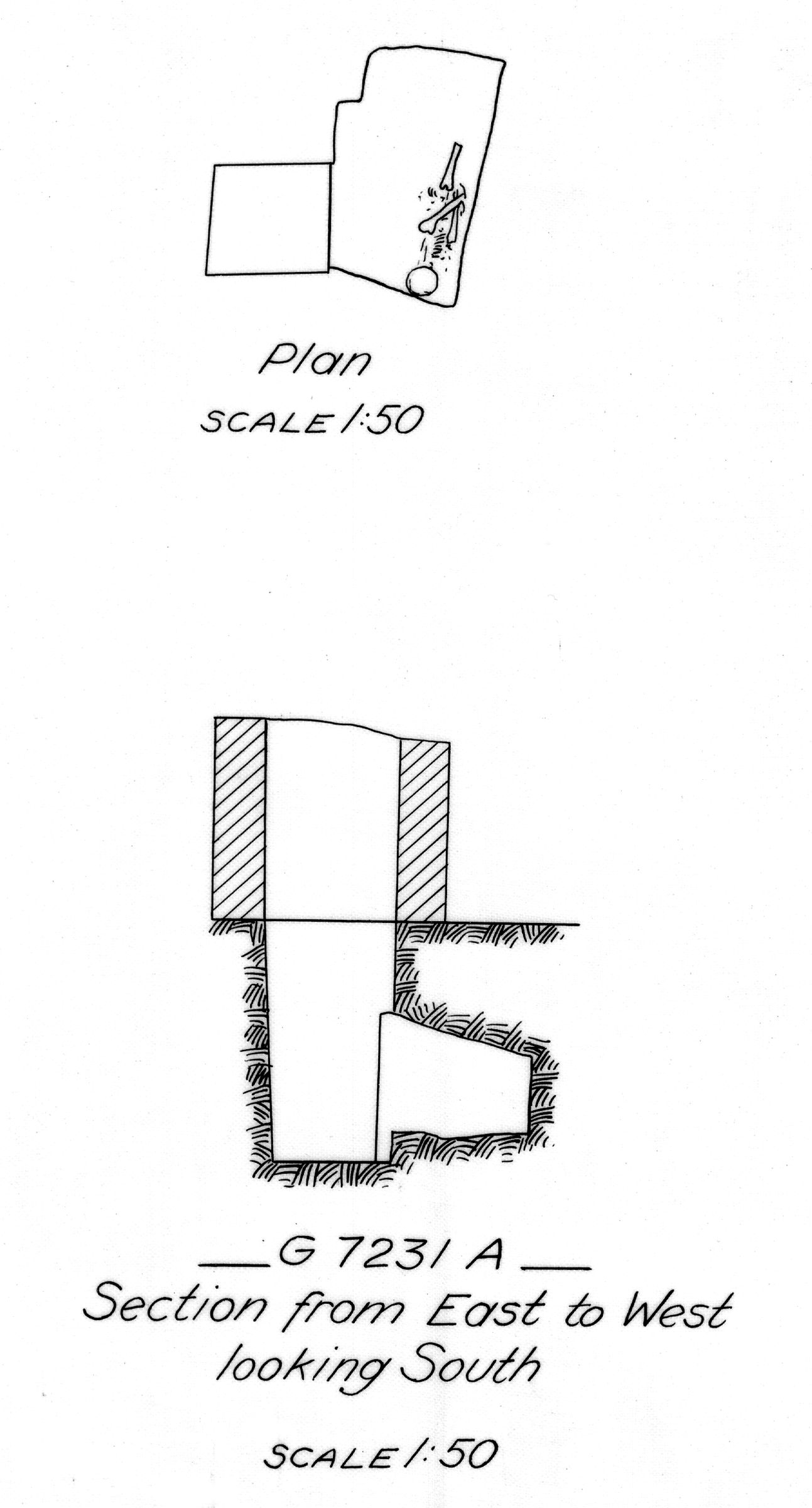 Maps and plans: G 7231, Shaft A