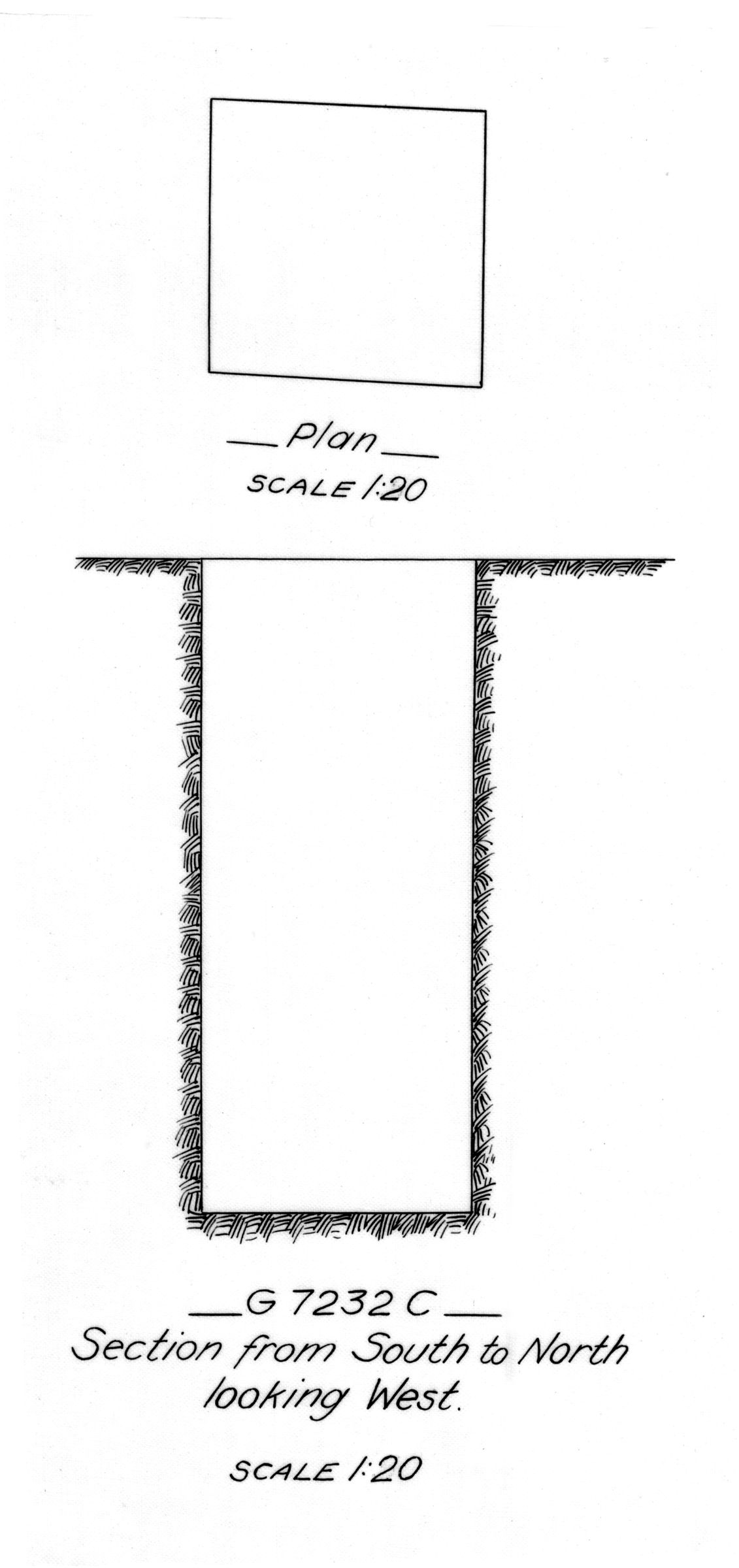 Maps and plans: G 7232, Shaft C