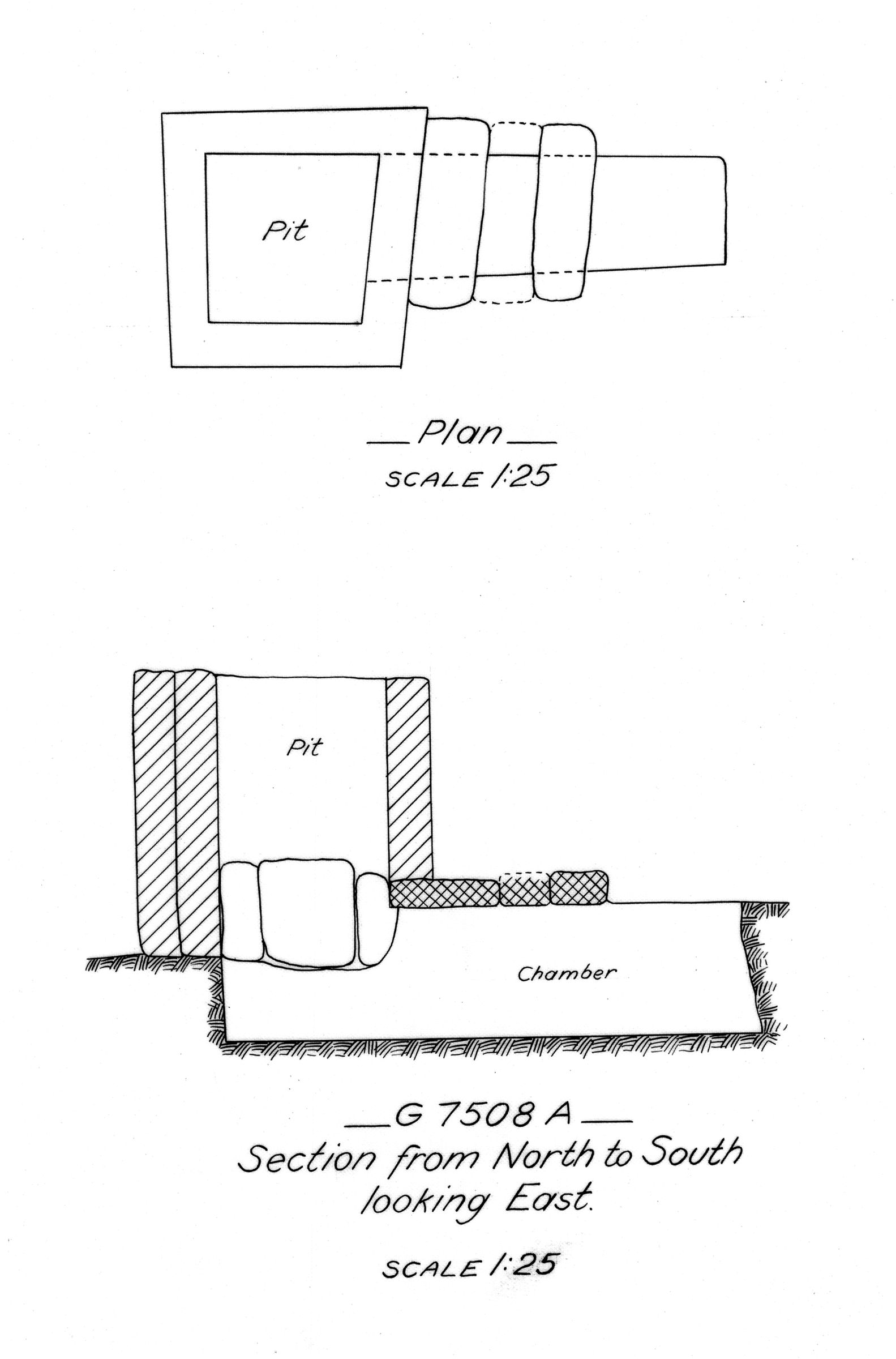 Maps and plans: G 7508, Shaft A