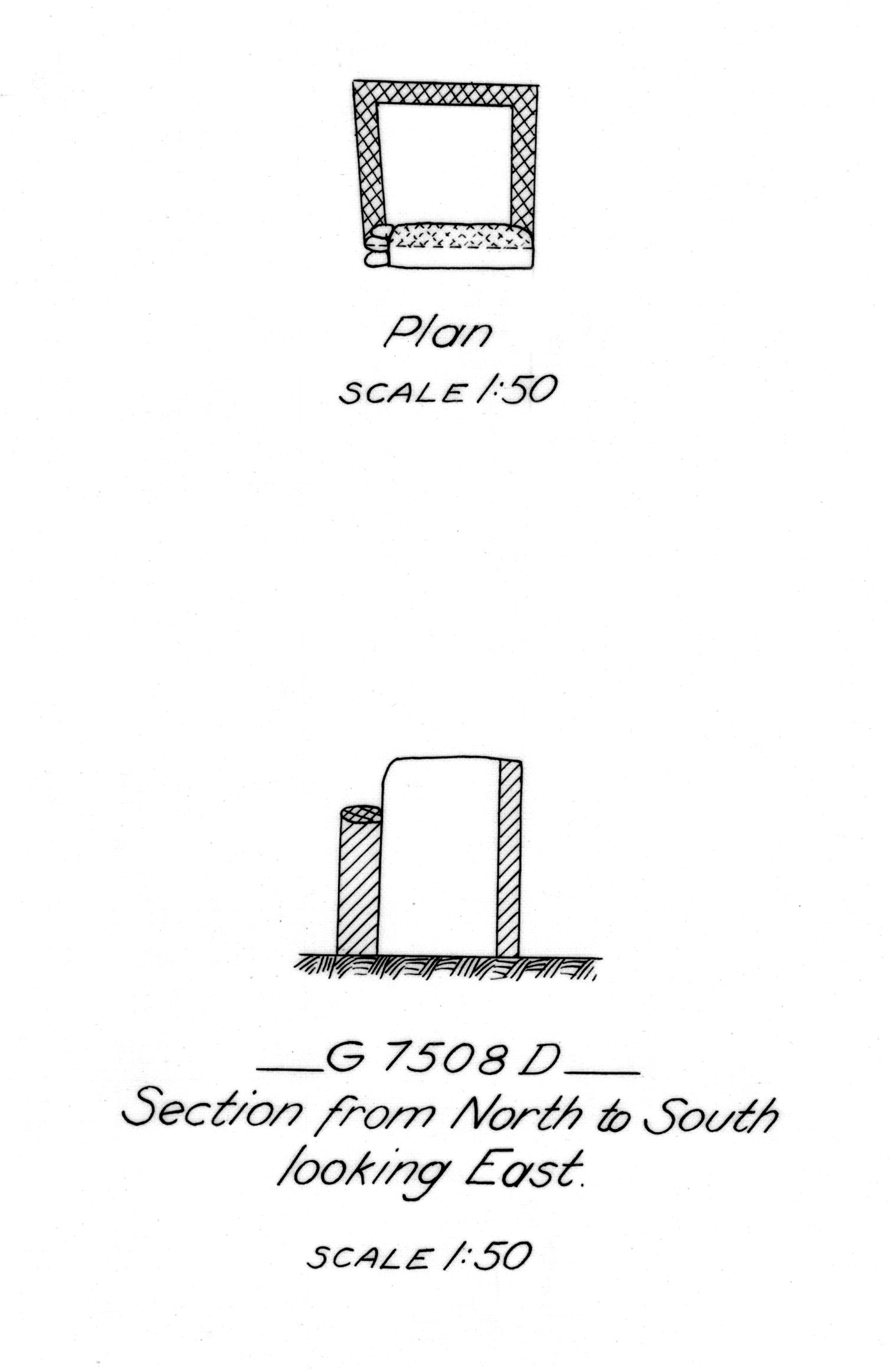 Maps and plans: G 7508, Shaft D