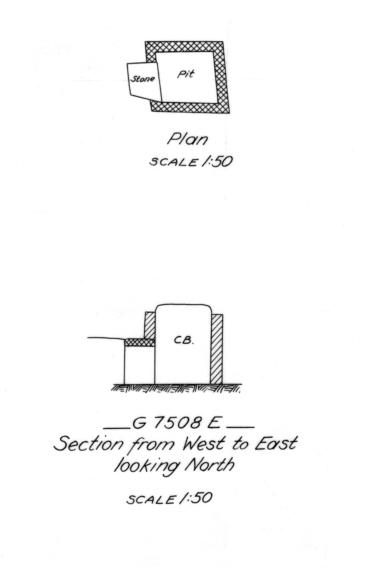 Maps and plans: G 7508, Shaft E