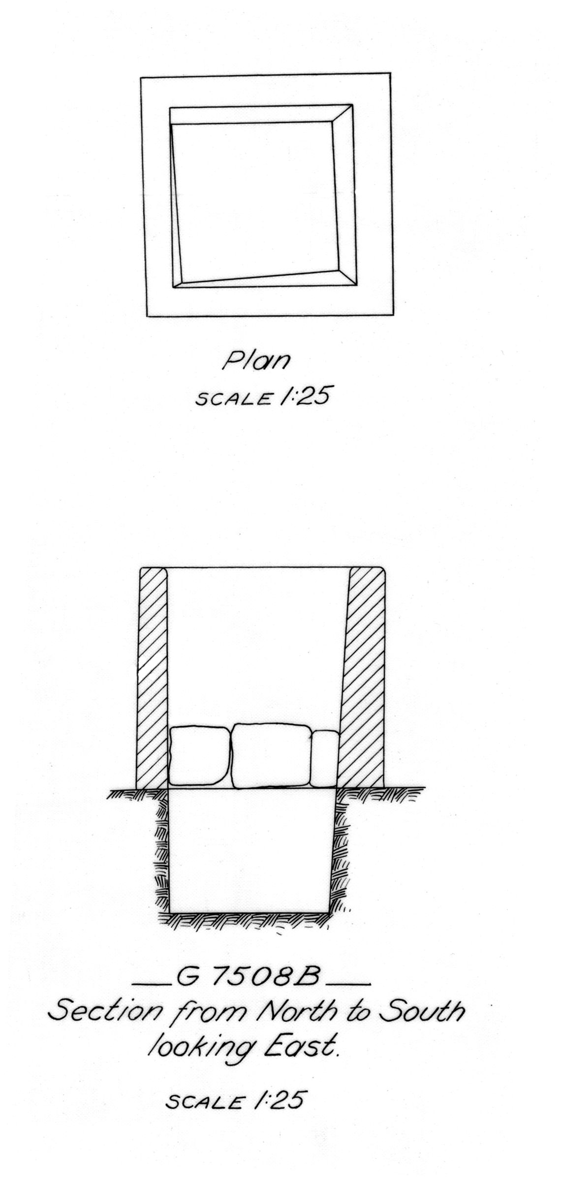 Maps and plans: G 7508, Shaft B