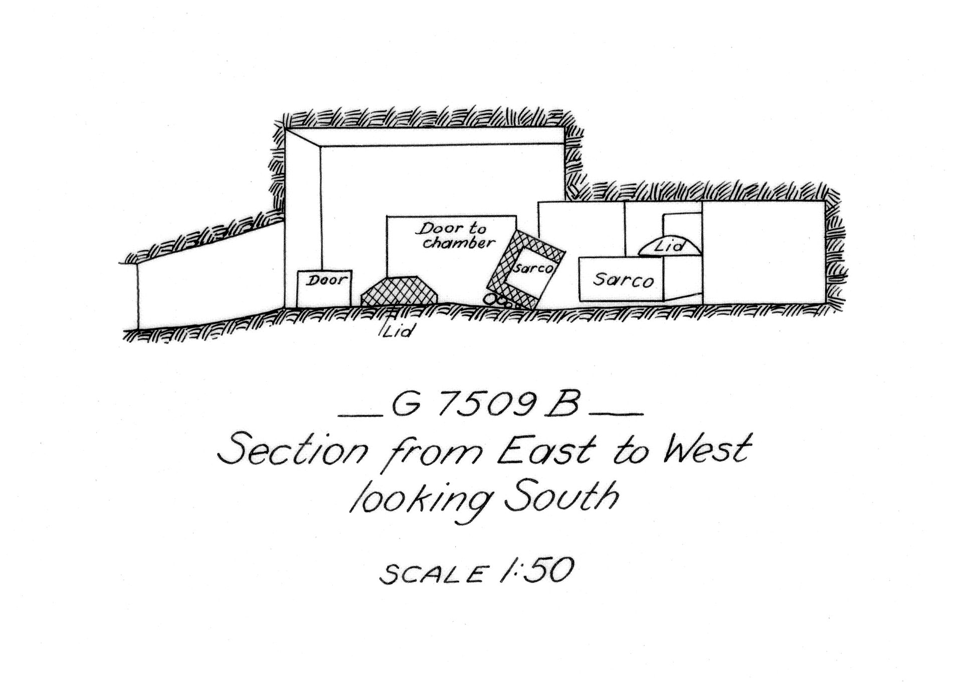Maps and plans: G 7509, Shaft B
