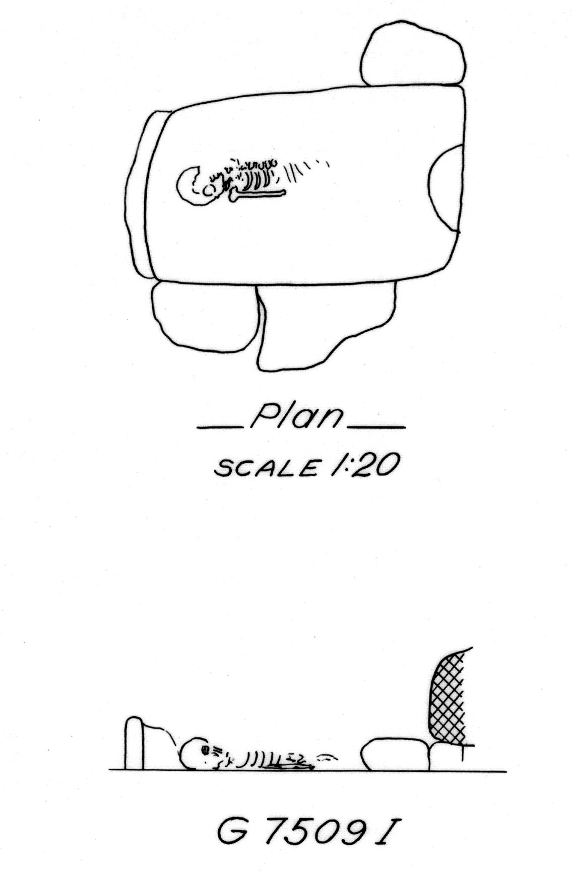 Maps and plans: G 7509, Shaft I2