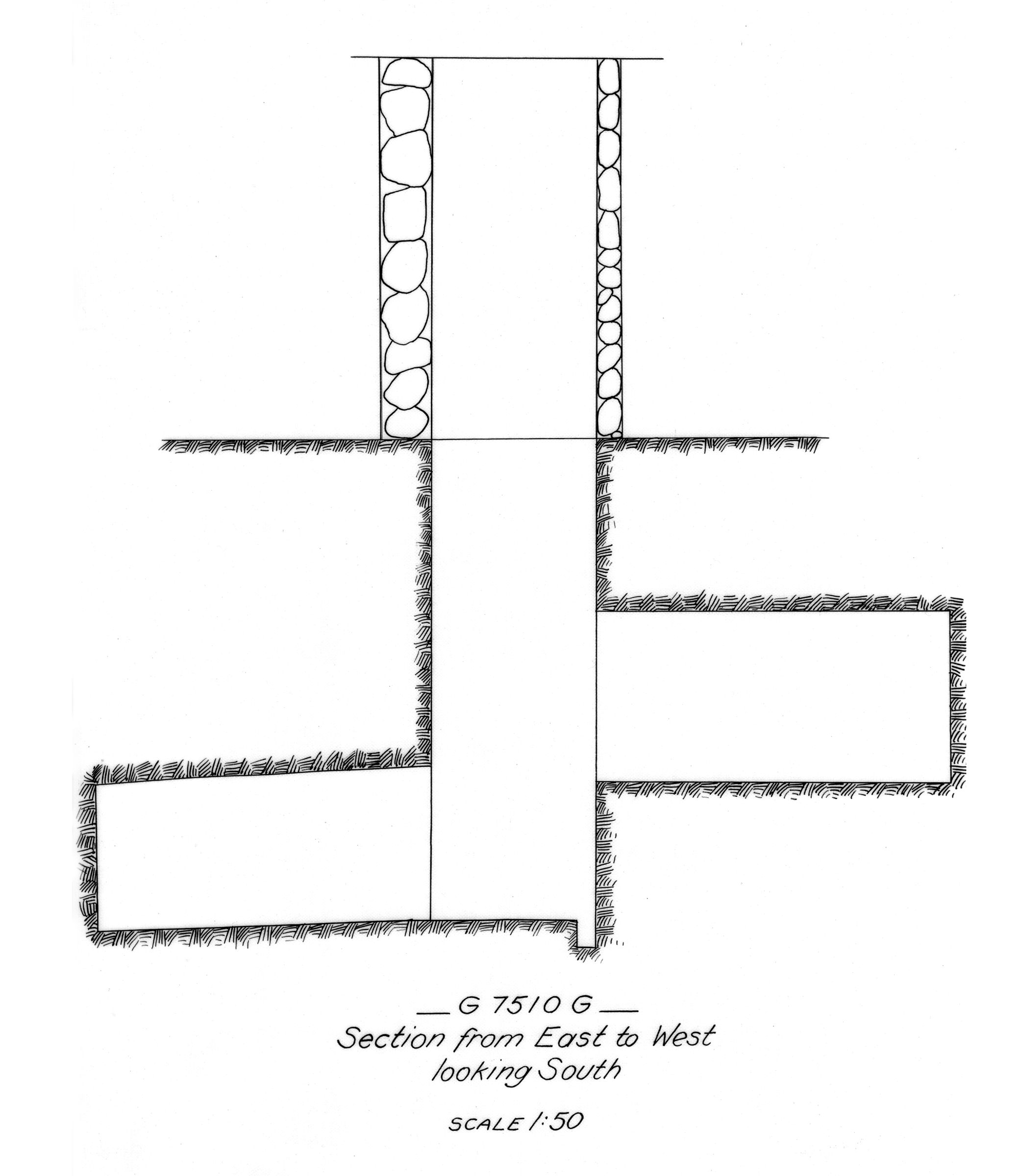 Maps and plans: G 7510, Shaft G