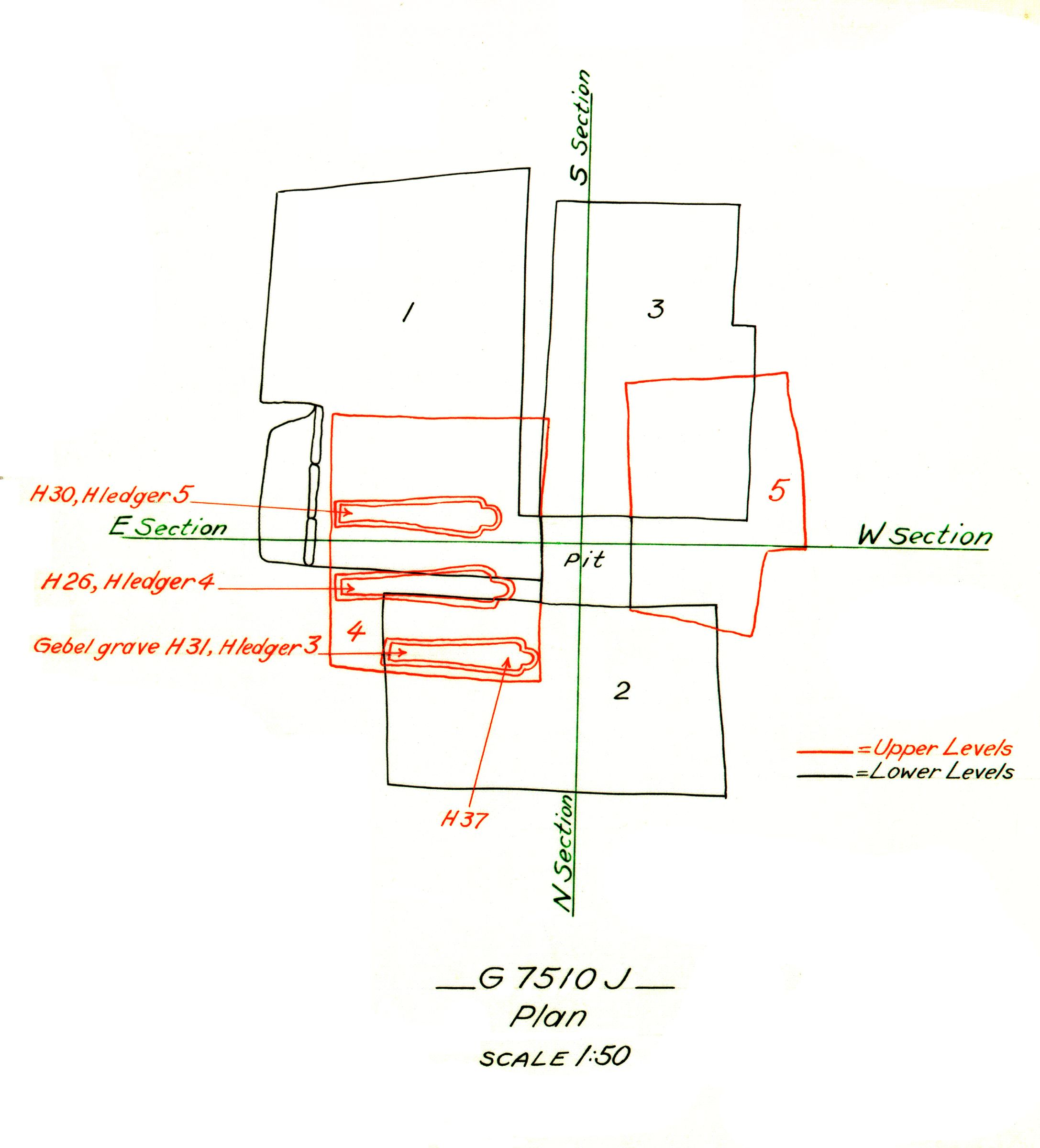 Maps and plans: G 7510, Shaft J