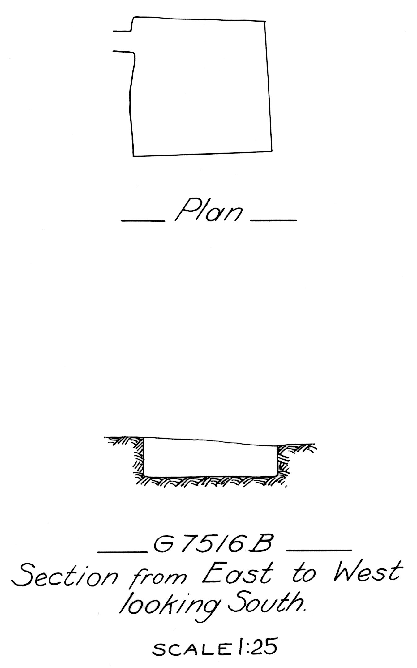 Maps and plans: G 7516, Shaft B