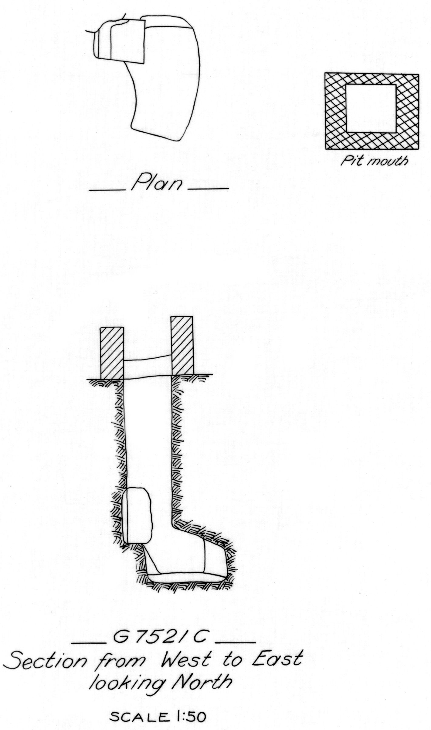Maps and plans: G 7521, Shaft C