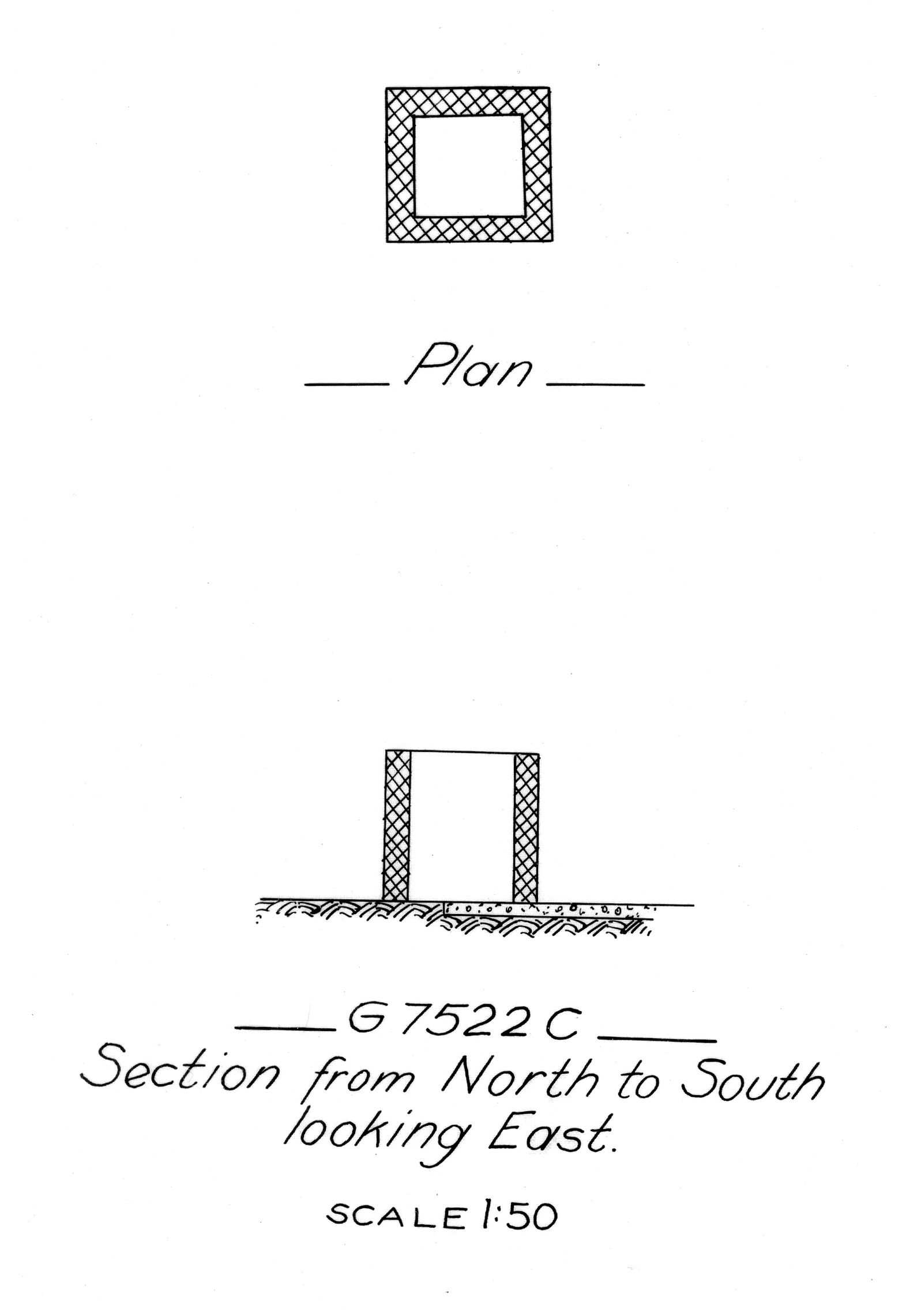 Maps and plans: G 7522, Shaft C
