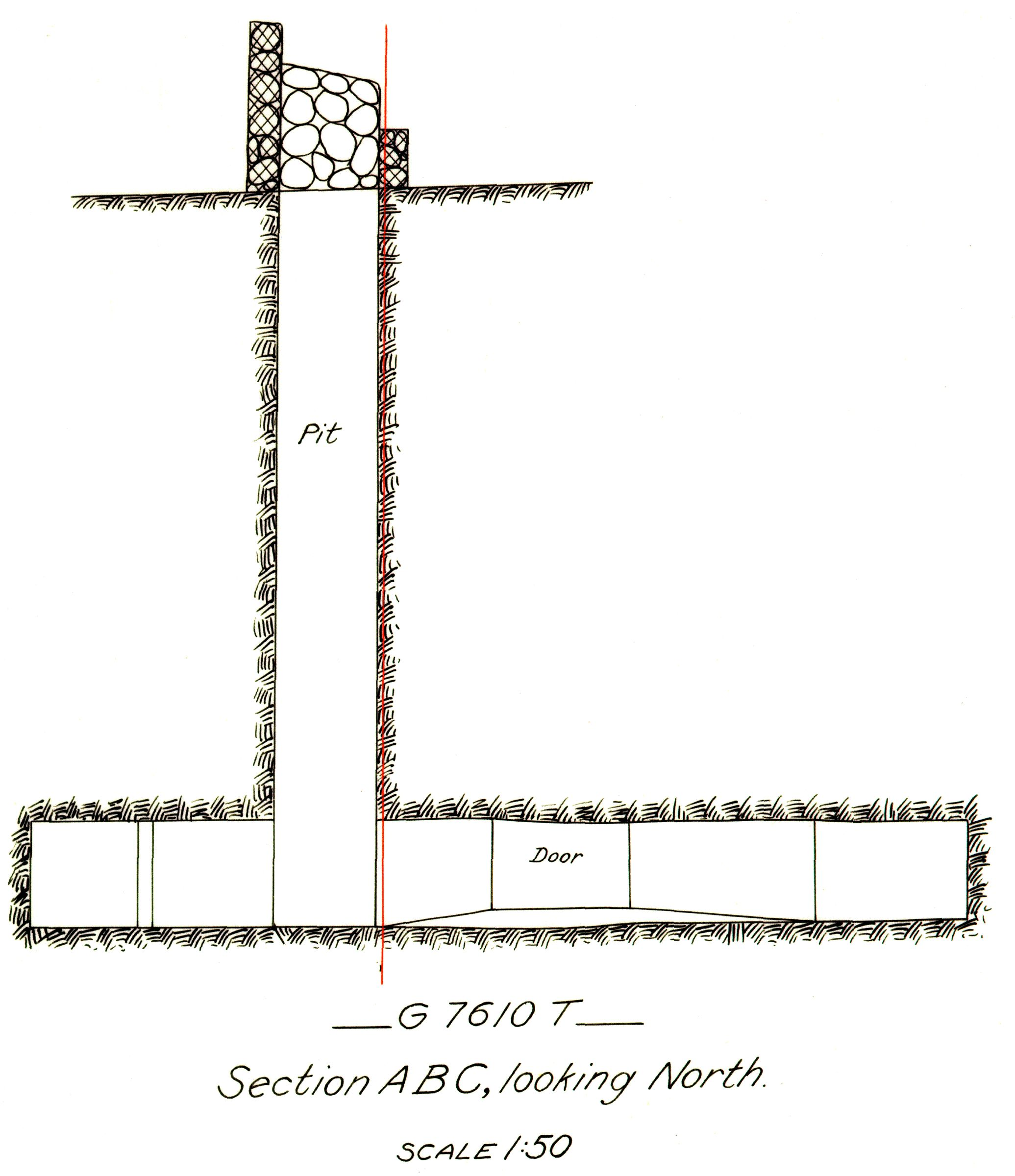 Maps and plans: G 7610+7620: G 7610, Shaft T