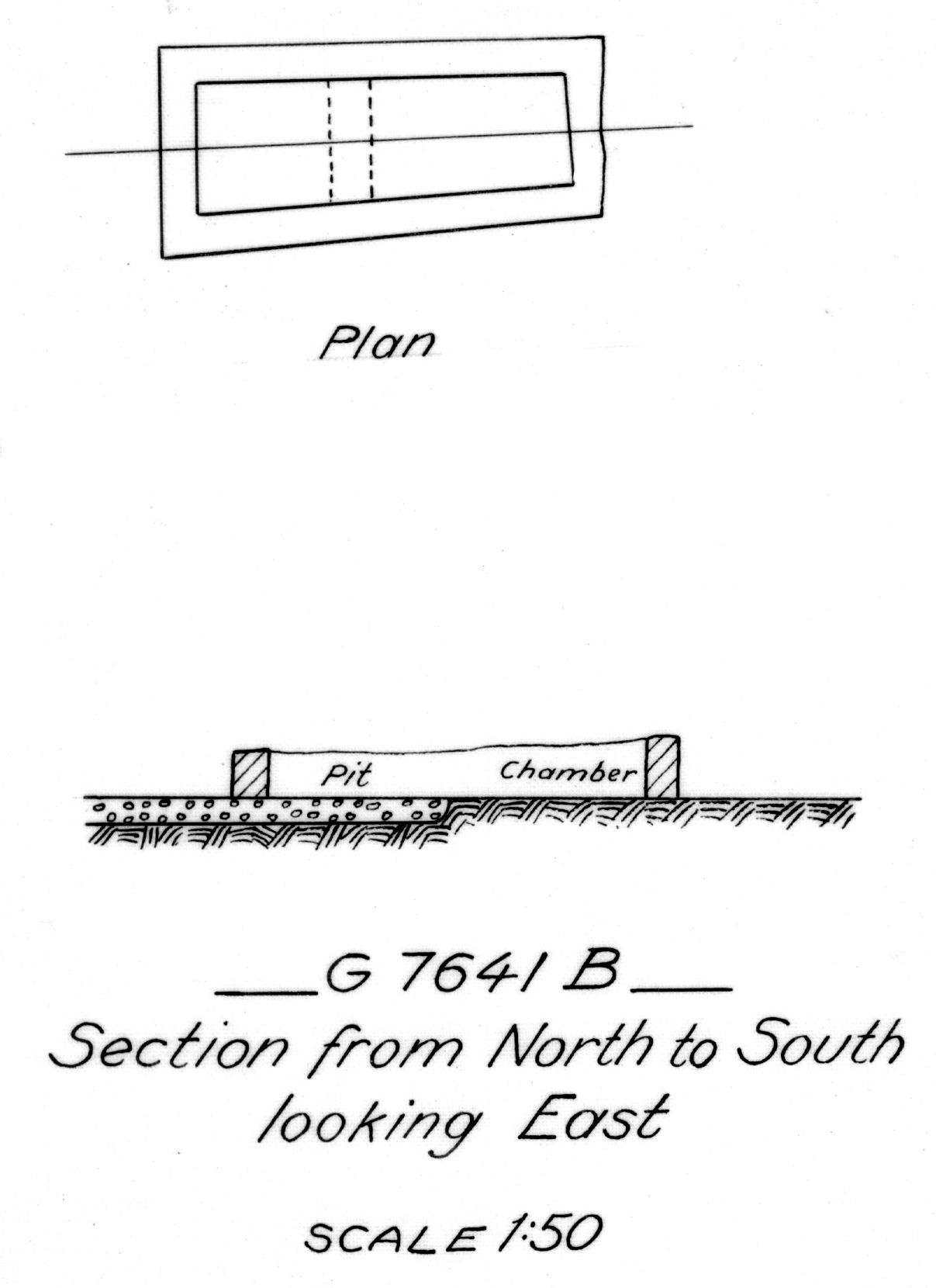 Maps and plans: G 7641, Shaft B