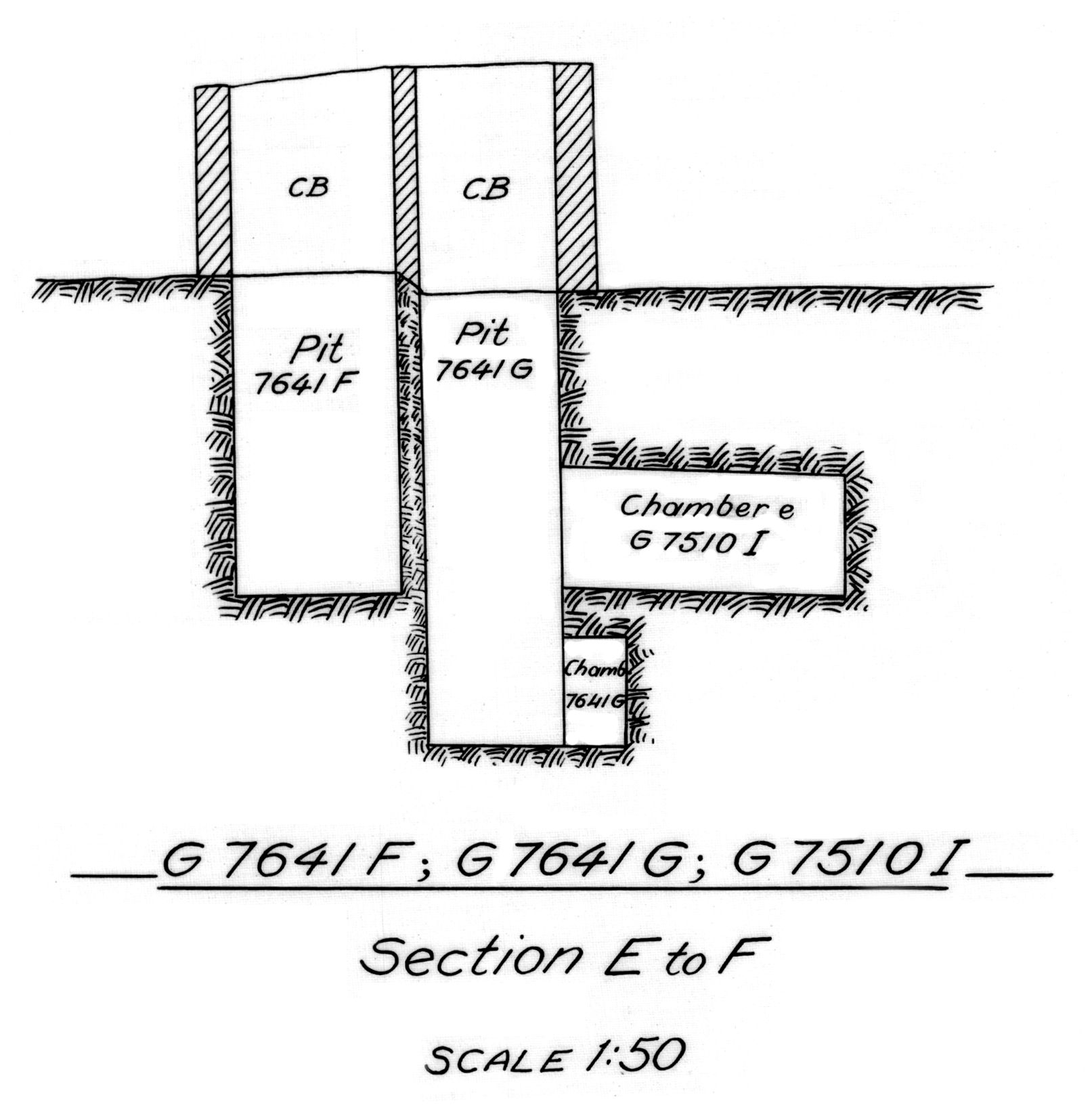 Maps and plans: G 7510, Shaft I & G 7641, Shaft F and G