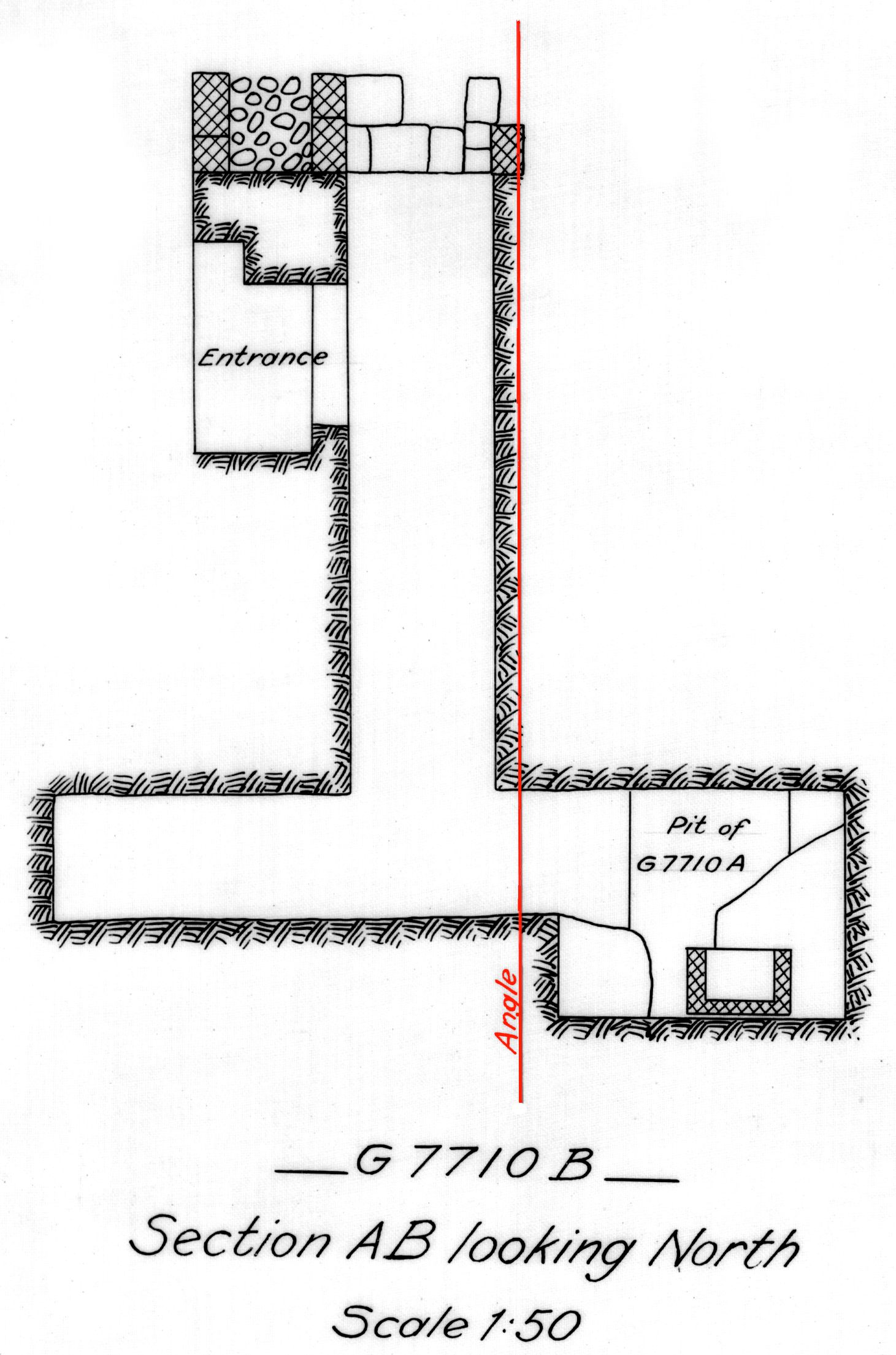 Maps and plans: G 7710, Shaft B