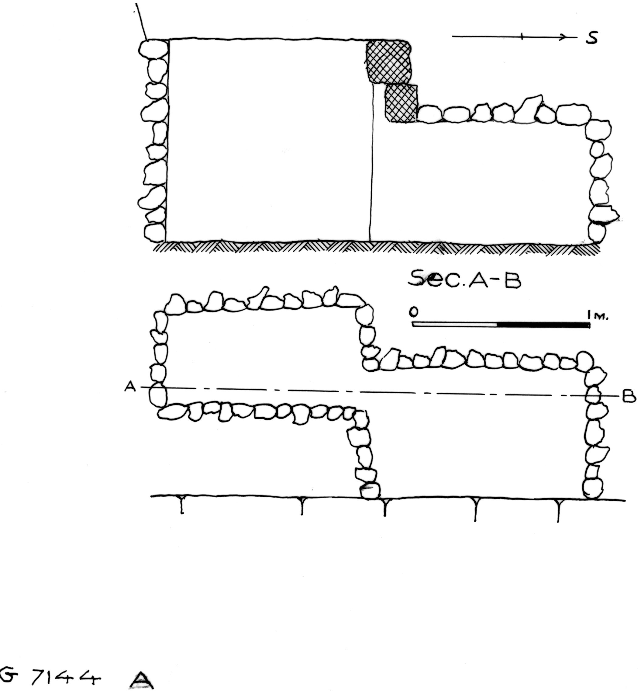 Maps and plans: G 7144, Shaft A