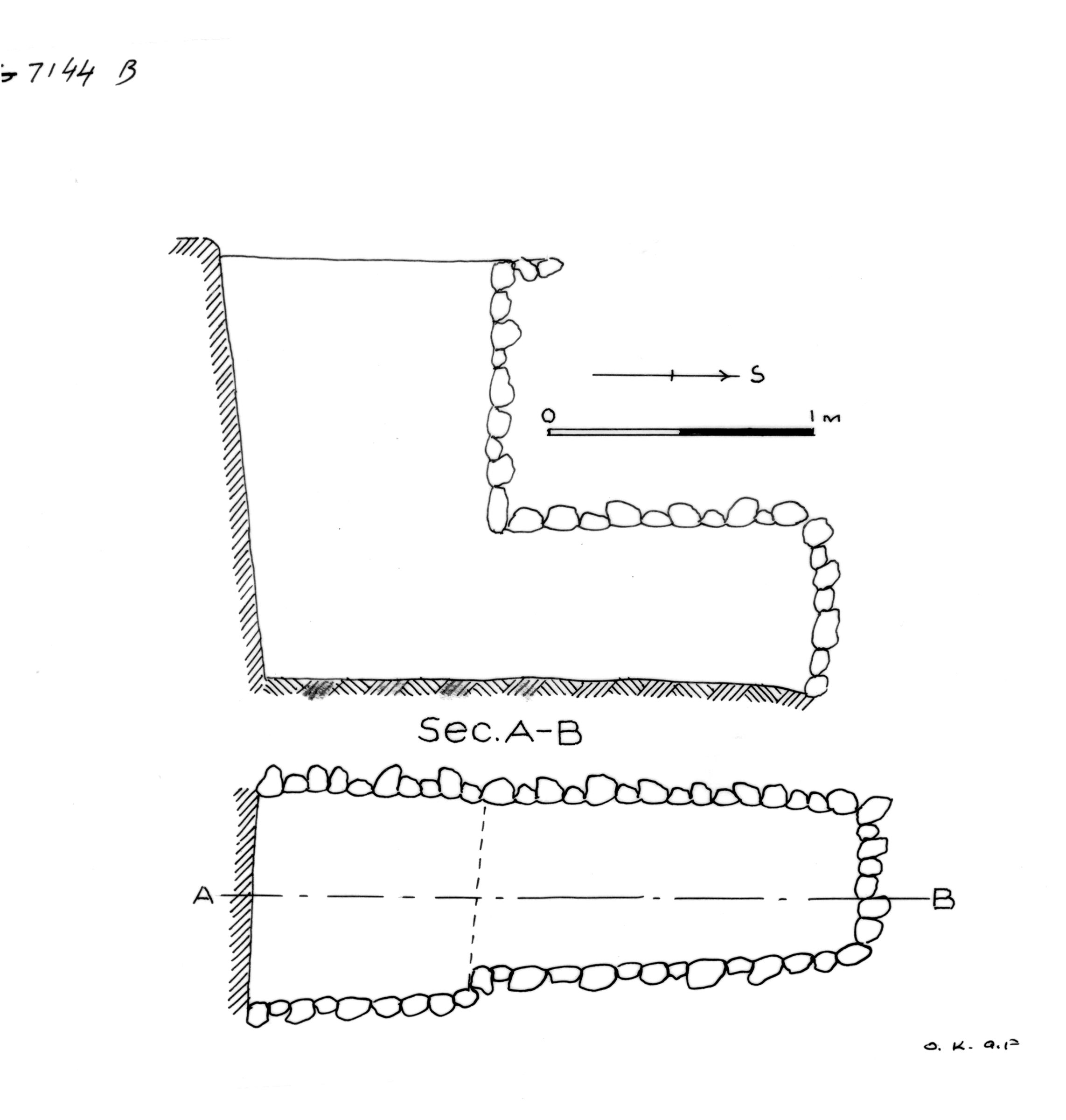 Maps and plans: G 7144, Shaft B