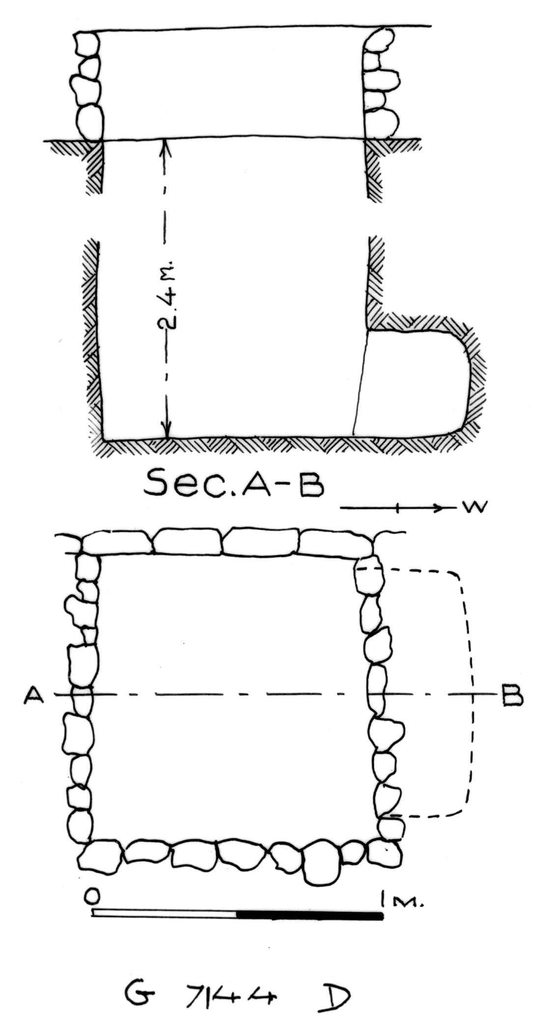 Maps and plans: G 7144, Shaft D