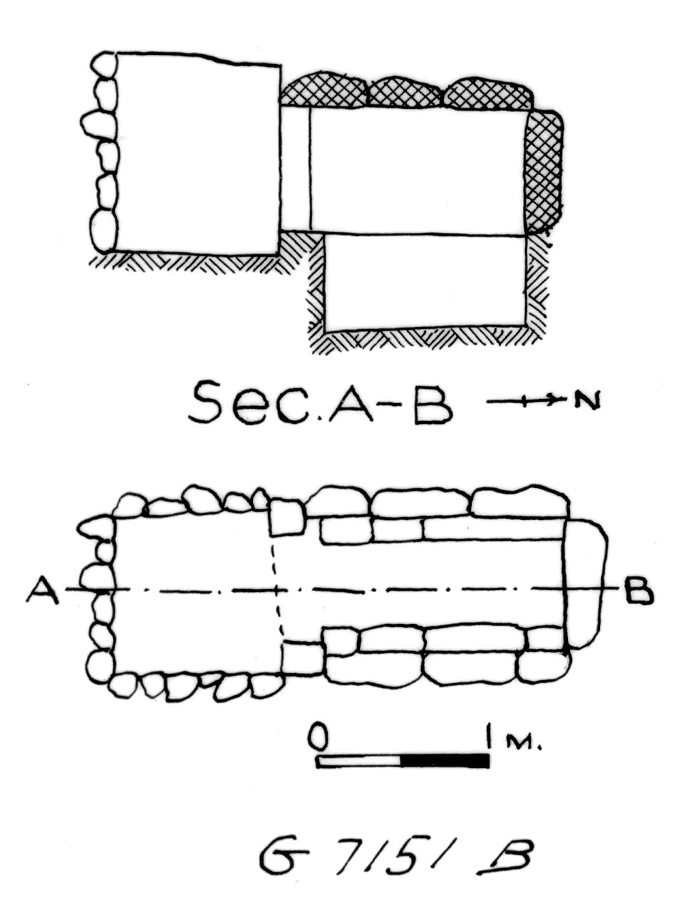 Maps and plans: G 7151, Shaft B