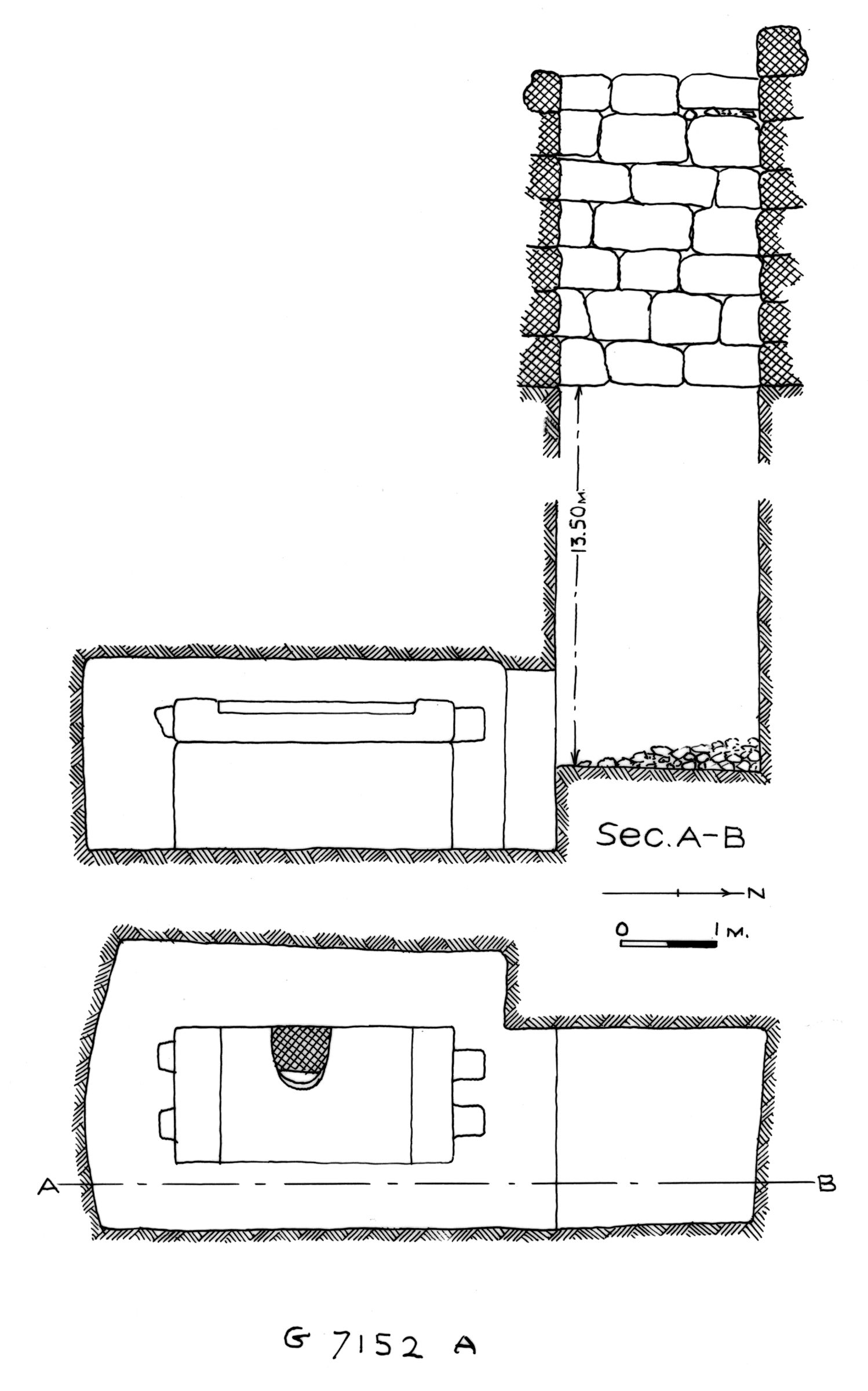 Maps and plans: G 7152, Shaft A