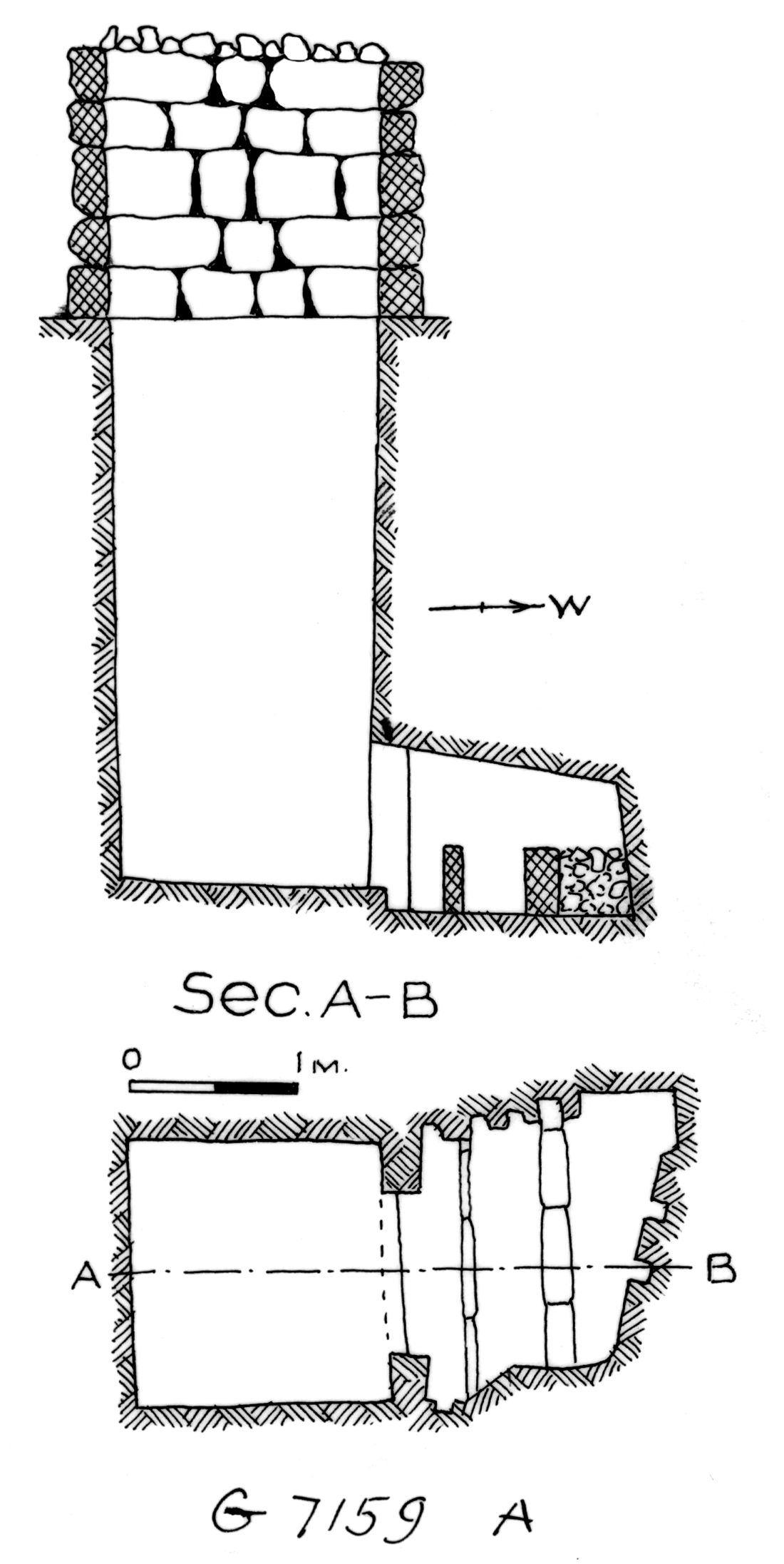 Maps and plans: G 7159, Shaft A