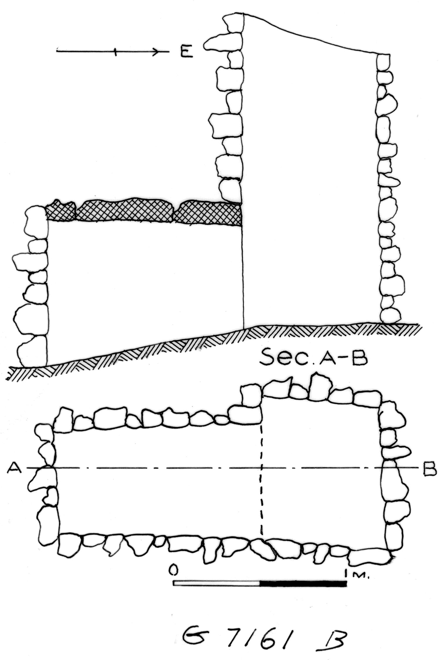 Maps and plans: G 7161, Shaft B