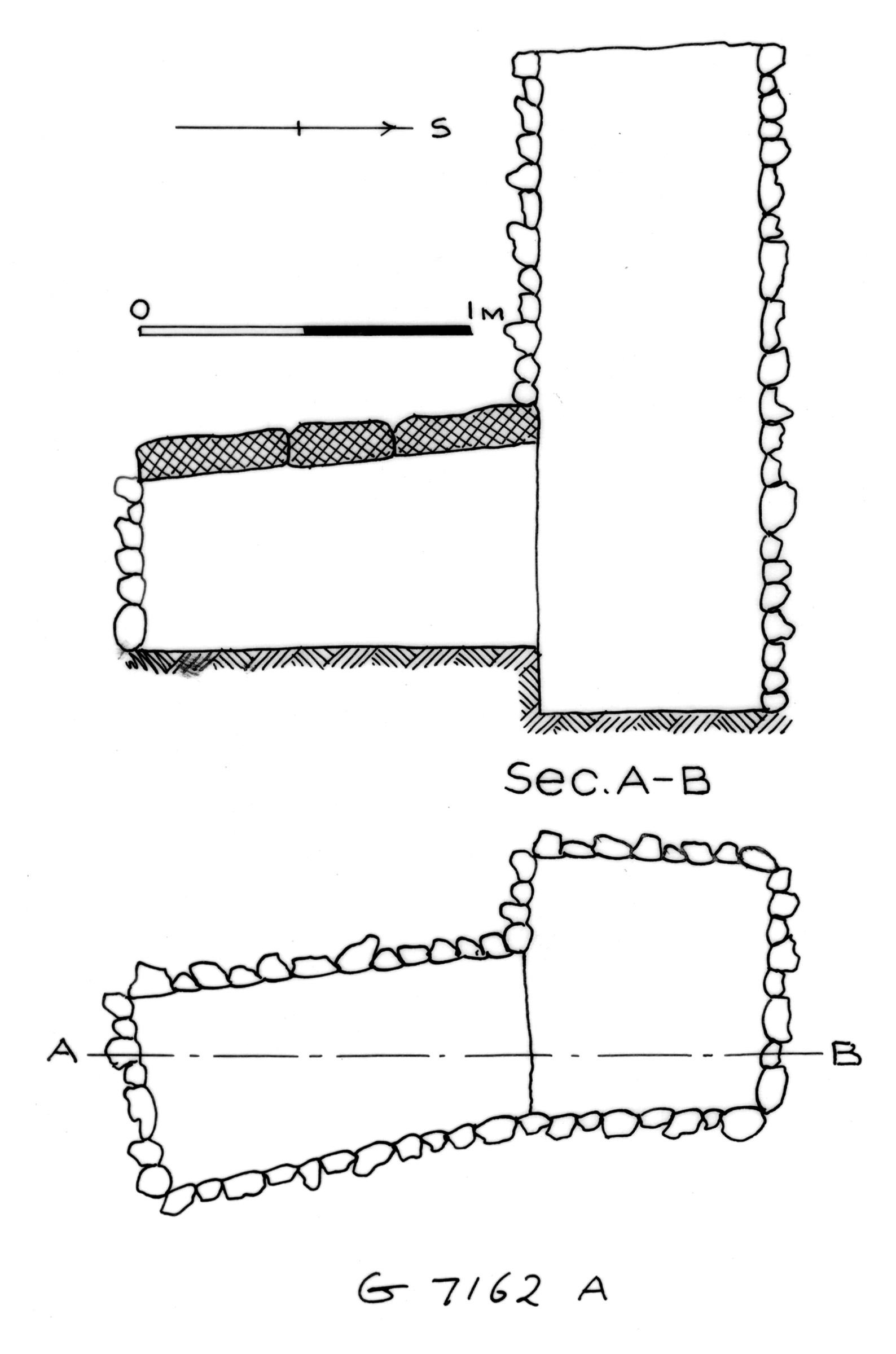 Maps and plans: G 7162, Shaft A