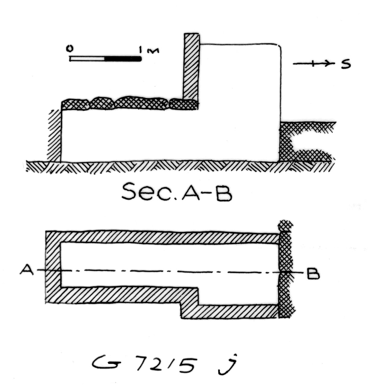 Maps and plans: G 7215, Shaft J