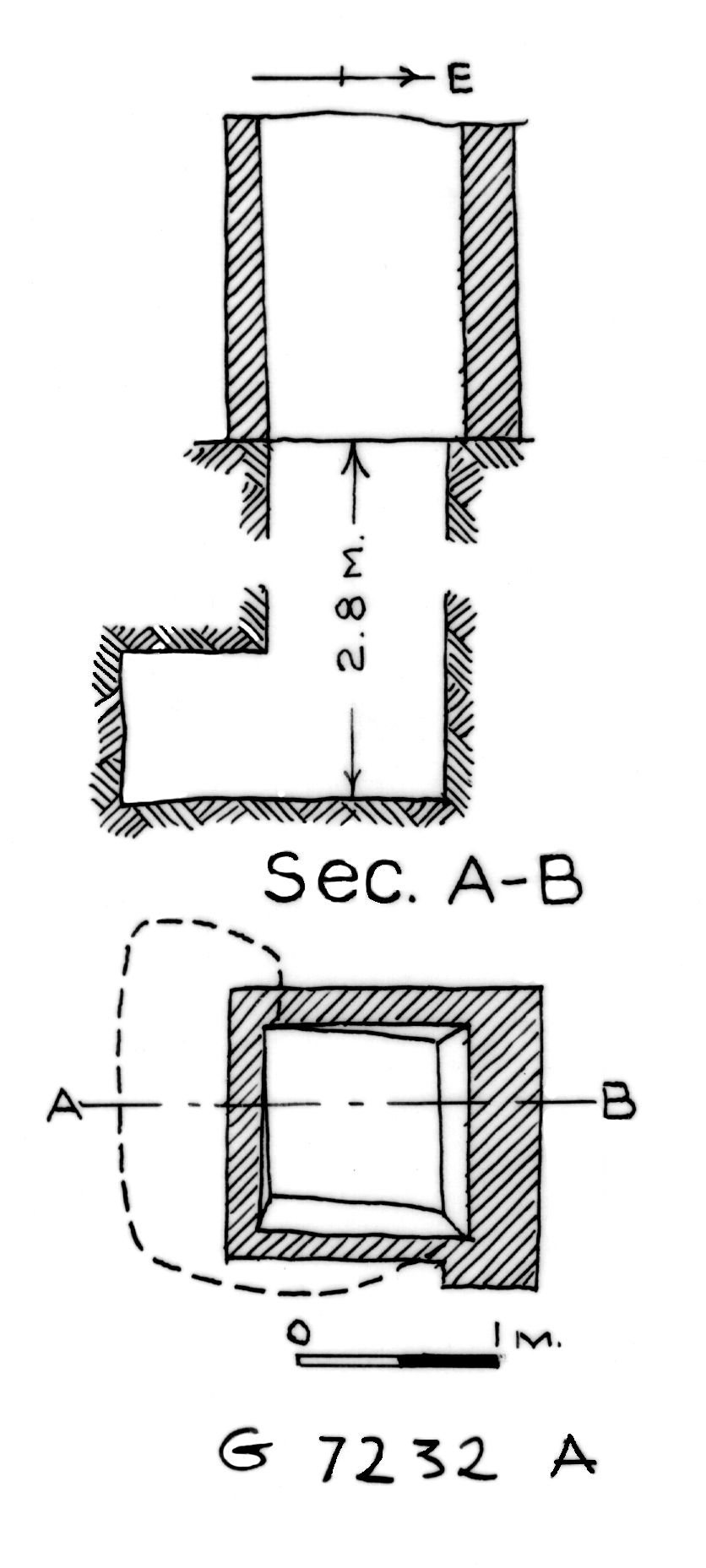 Maps and plans: G 7232, Shaft A