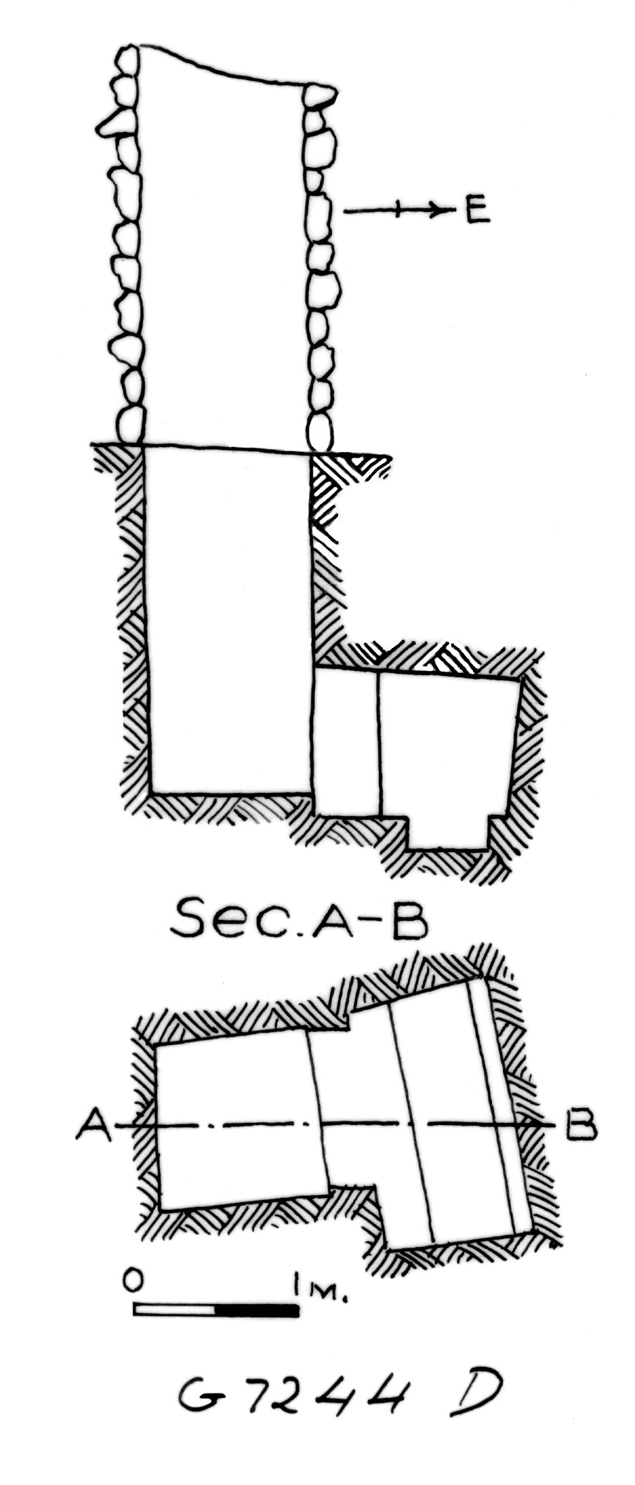 Maps and plans: G 7244+7246: G 7244, Shaft D