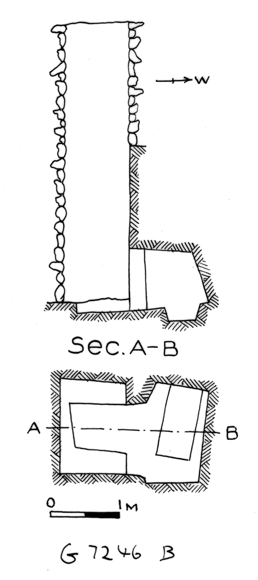 Maps and plans: G 7244+7246: G 7246, Shaft B