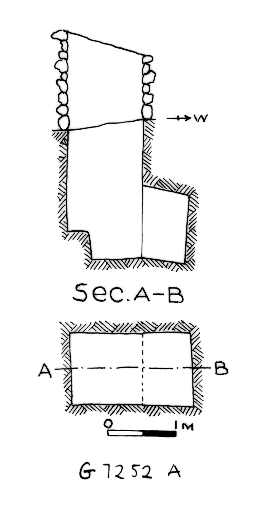 Maps and plans: G 7252, Shaft A