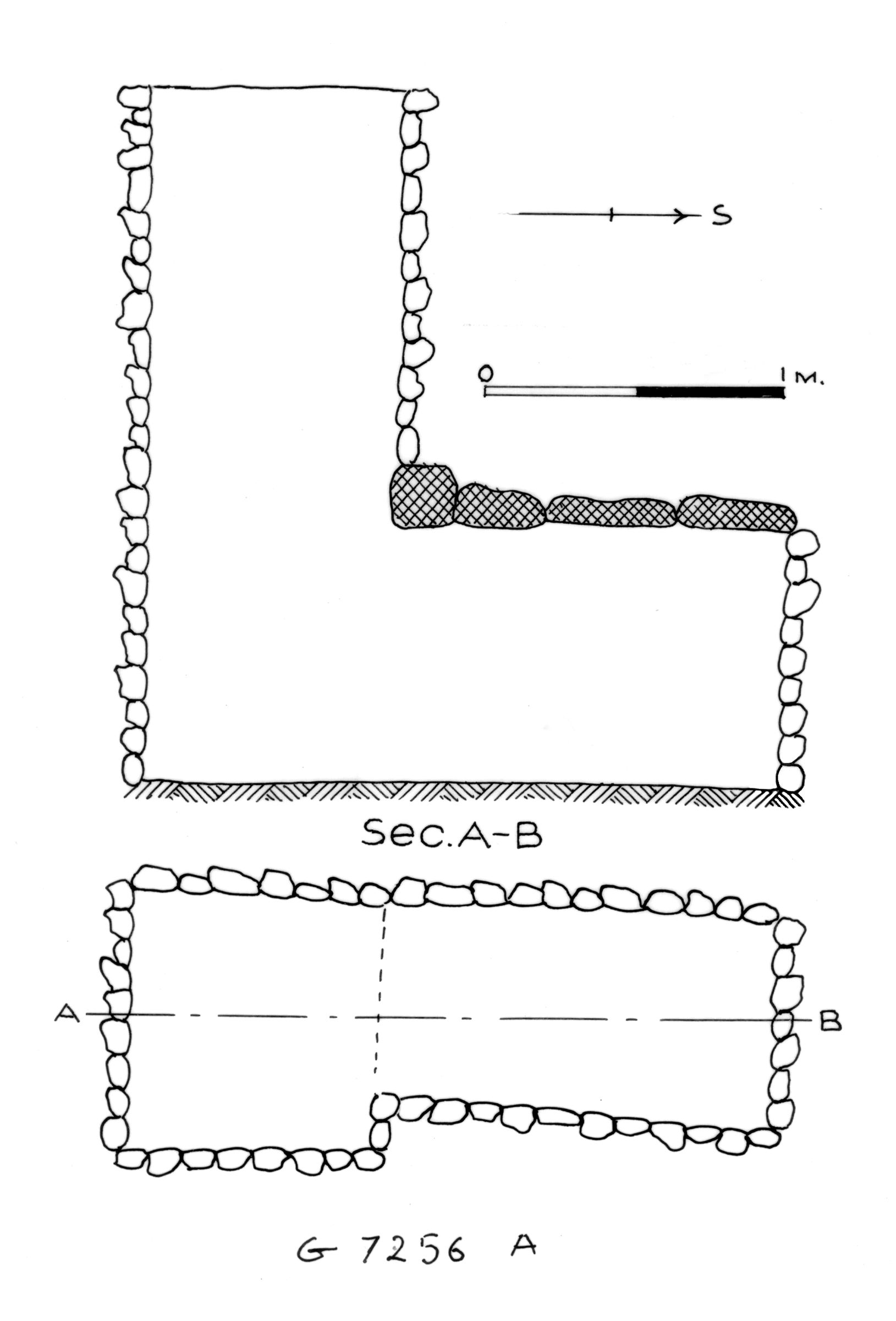 Maps and plans: G 7256, Shaft A