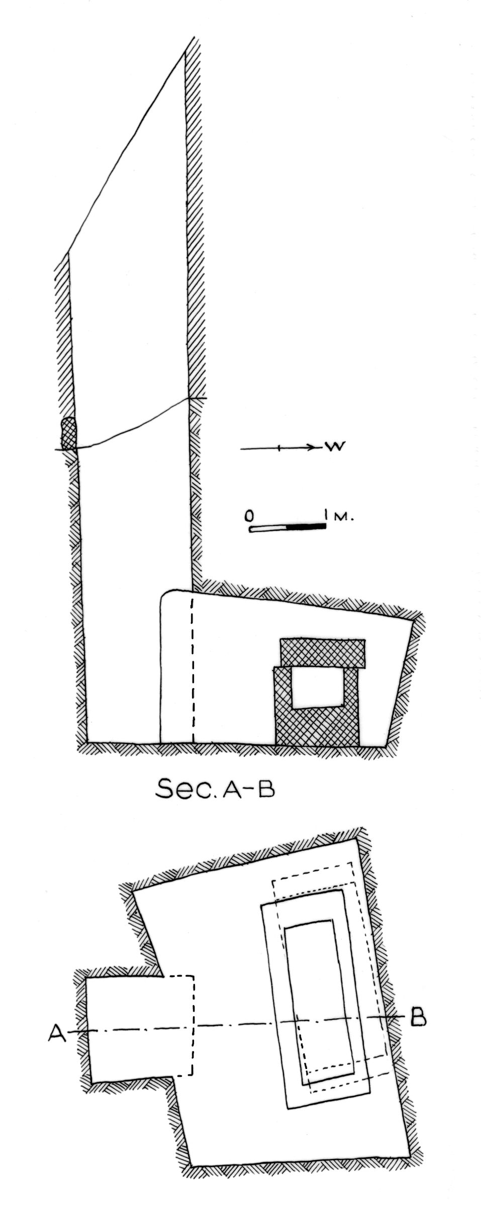 Maps and plans: G 7412, Shaft B