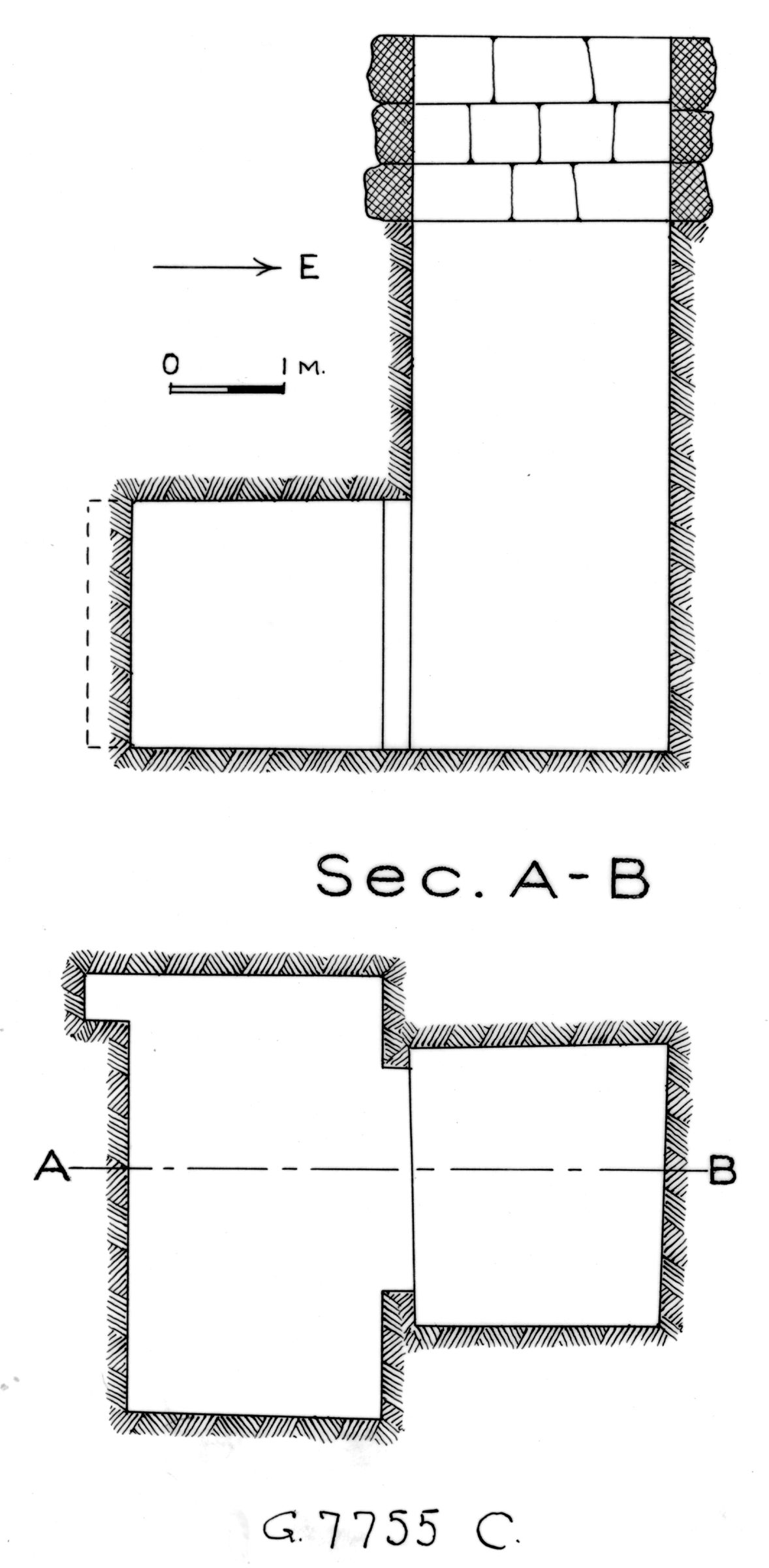 Maps and plans: G 7755, Shaft C
