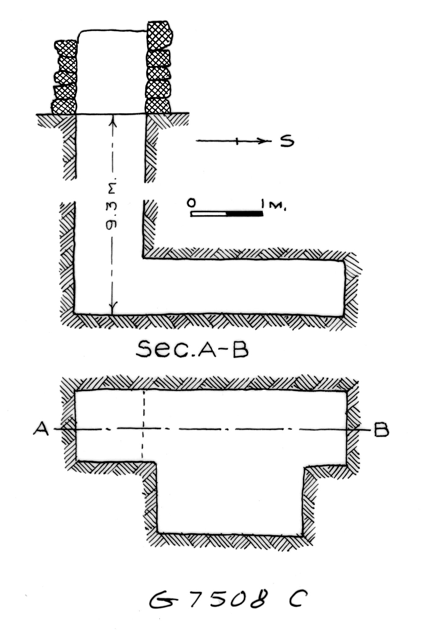 Maps and plans: G 7508, Shaft C