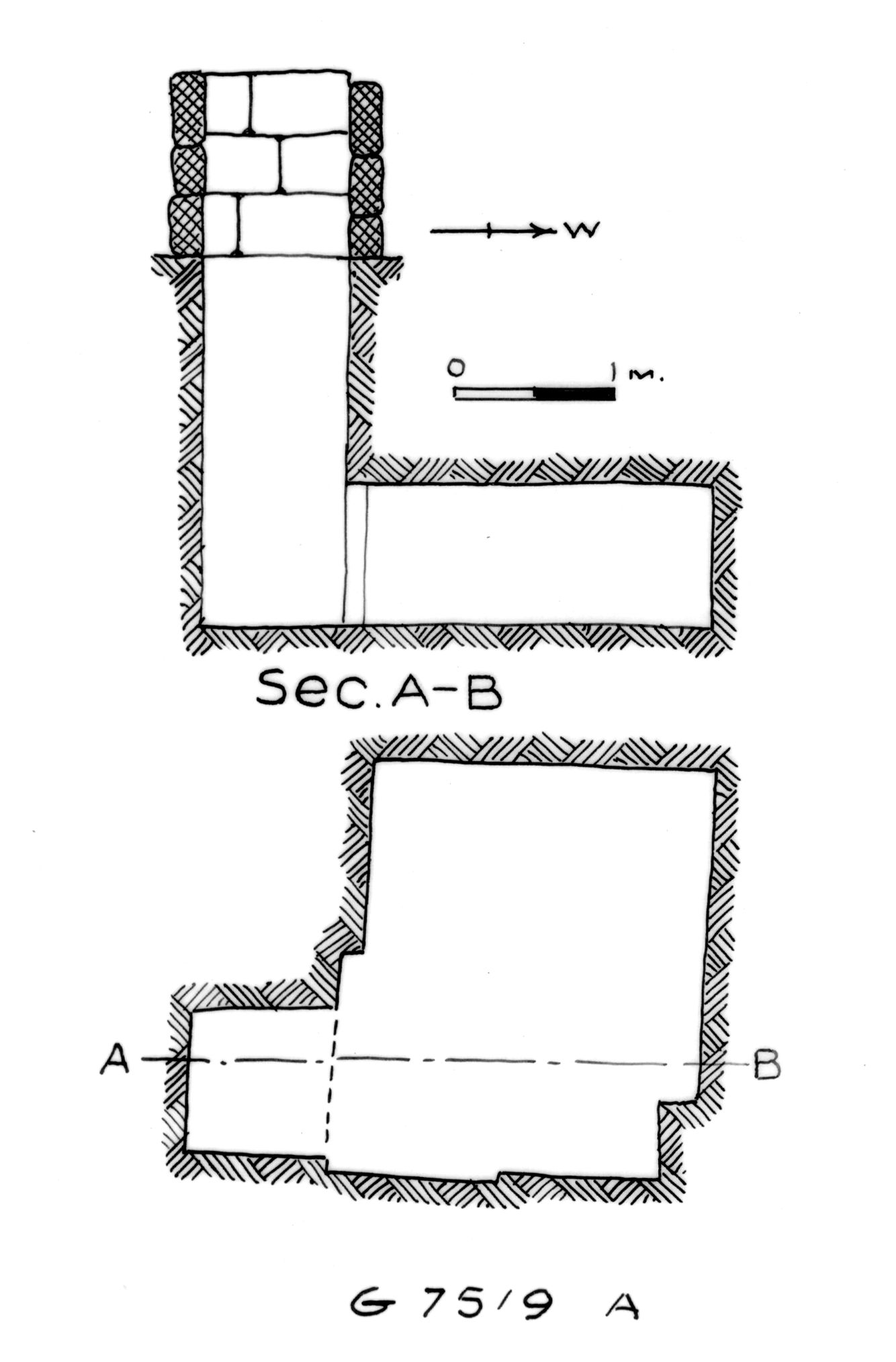 Maps and plans: G 7519, Shaft A