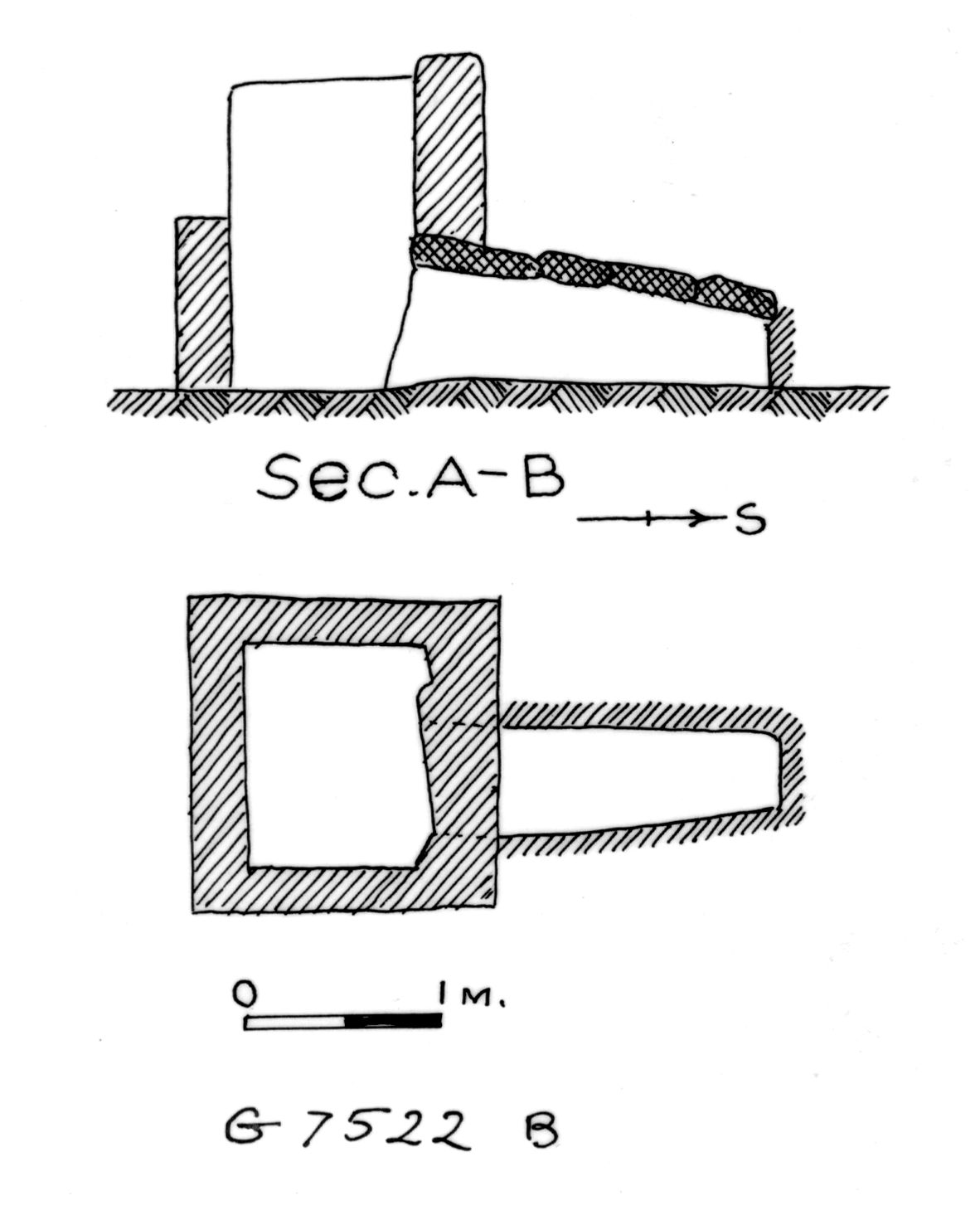 Maps and plans: G 7522, Shaft B
