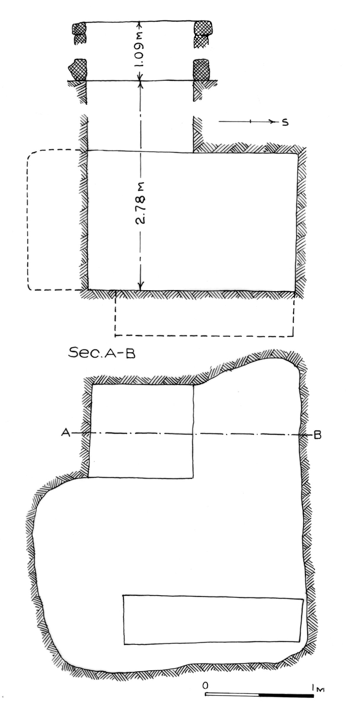 Maps and plans: G 7562, Shaft A