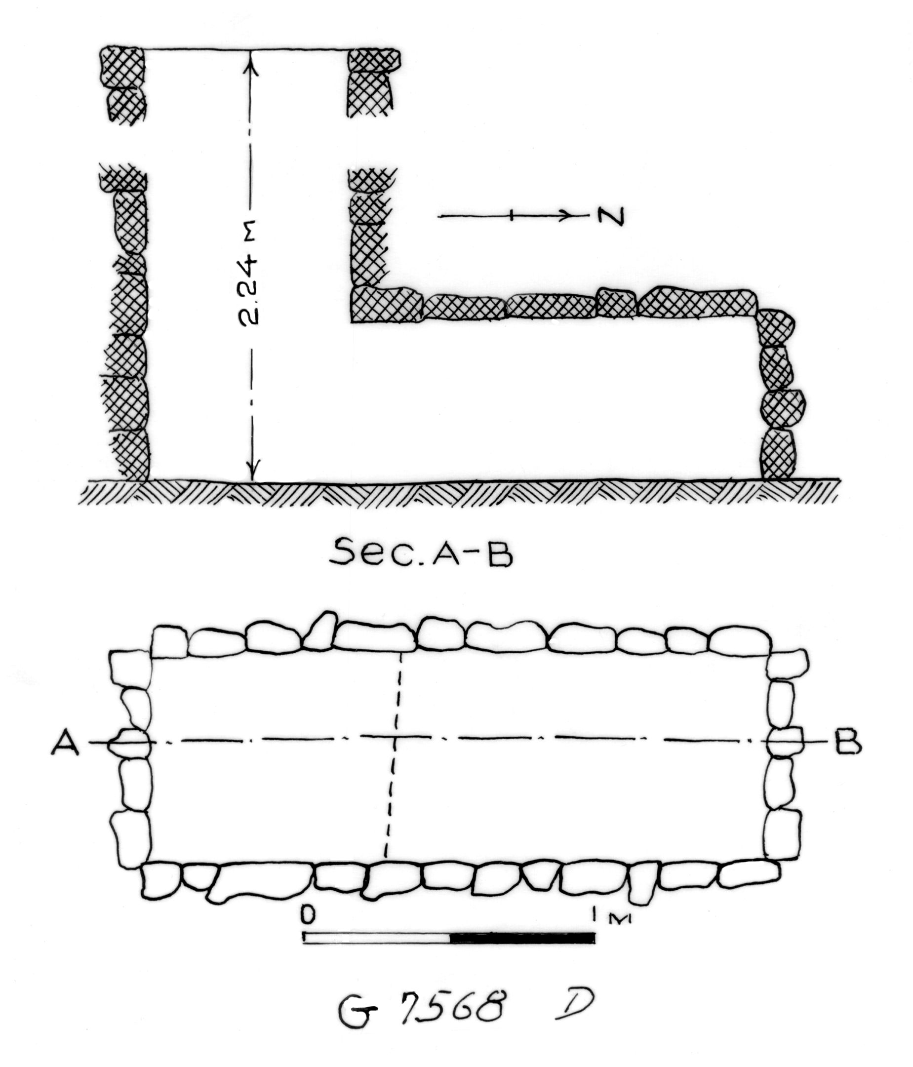 Maps and plans: G 7568, Shaft D