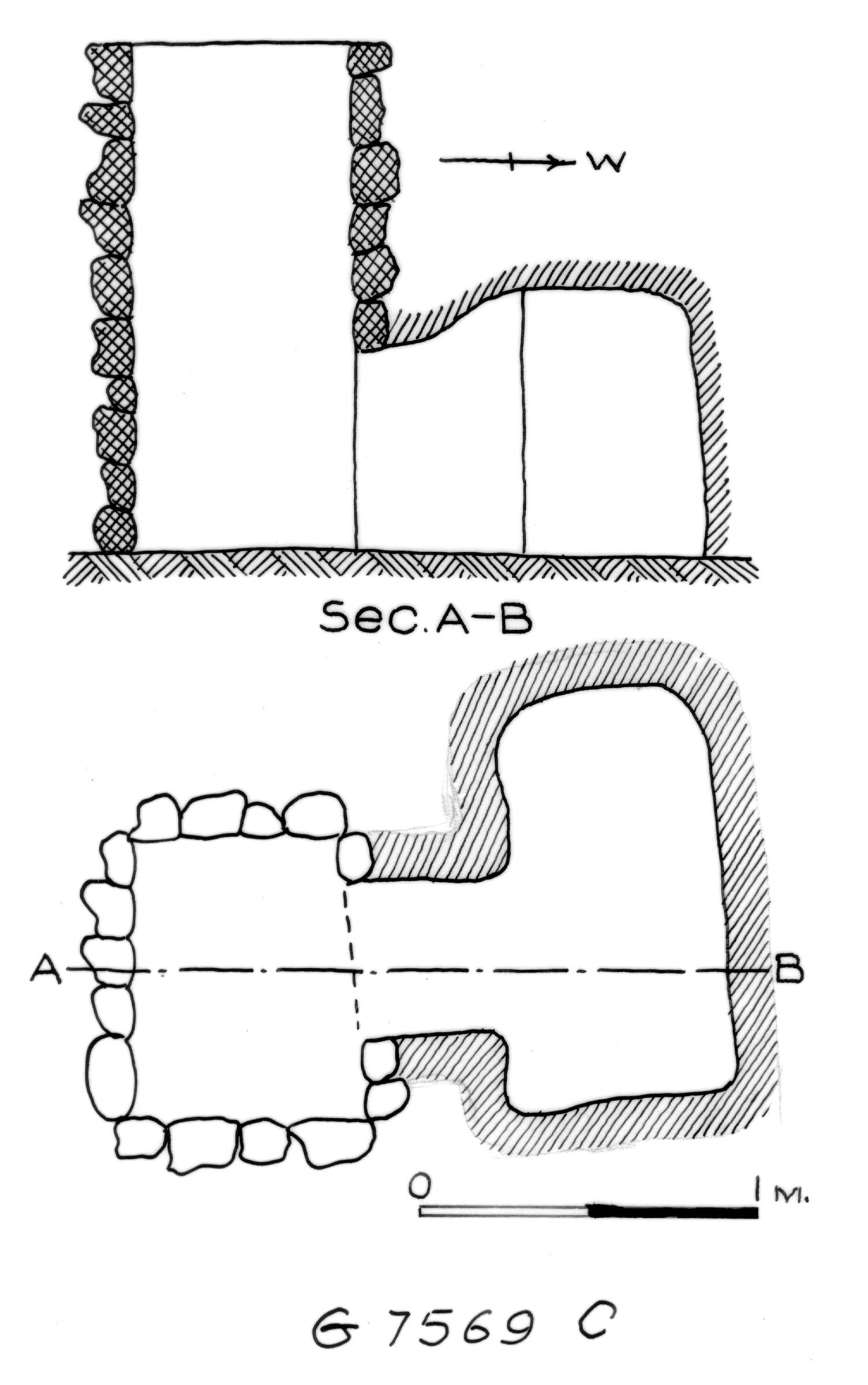 Maps and plans: G 7569, Shaft C