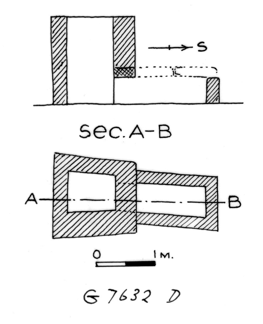 Maps and plans: G 7632, Shaft D