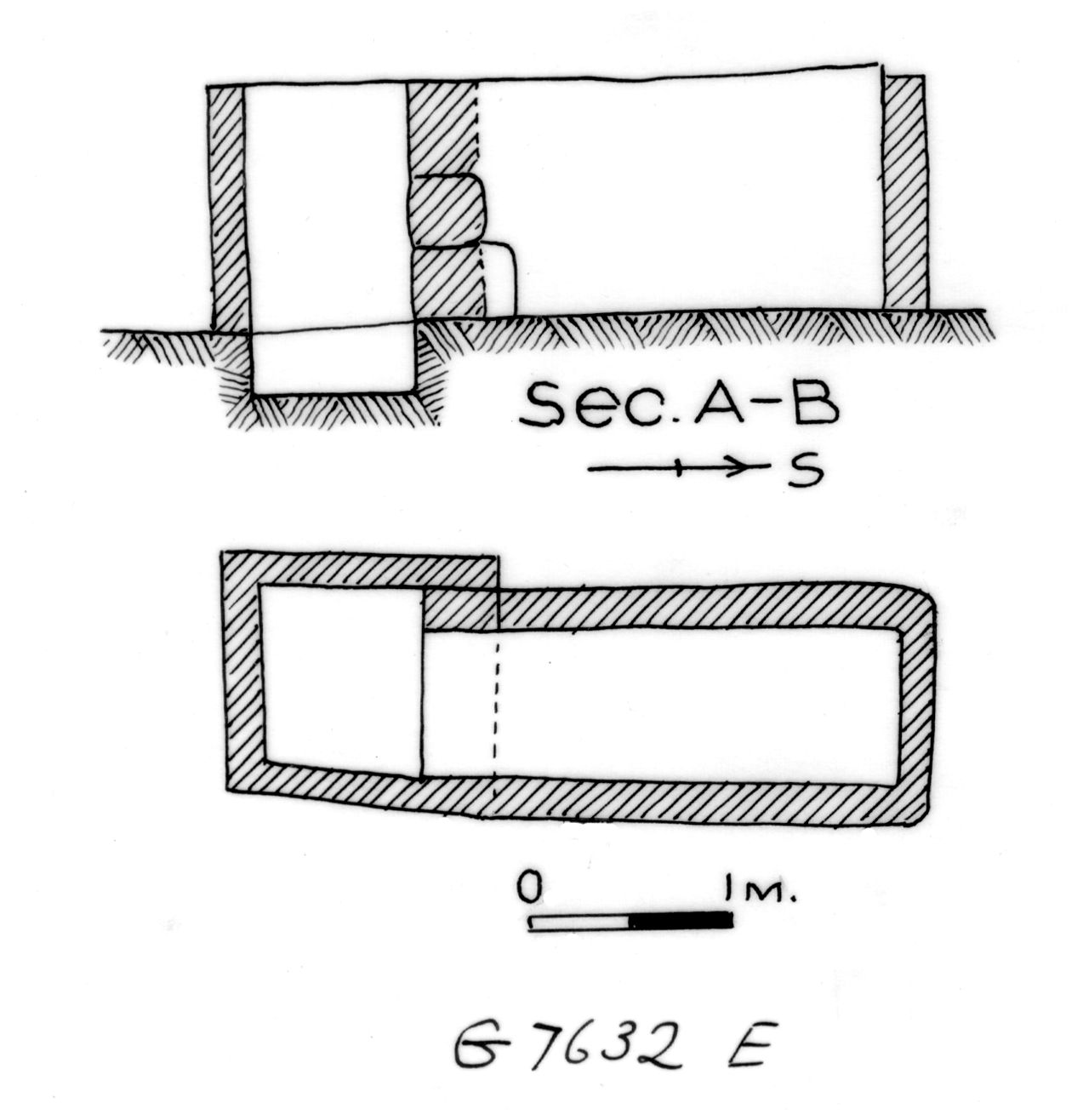 Maps and plans: G 7632, Shaft E