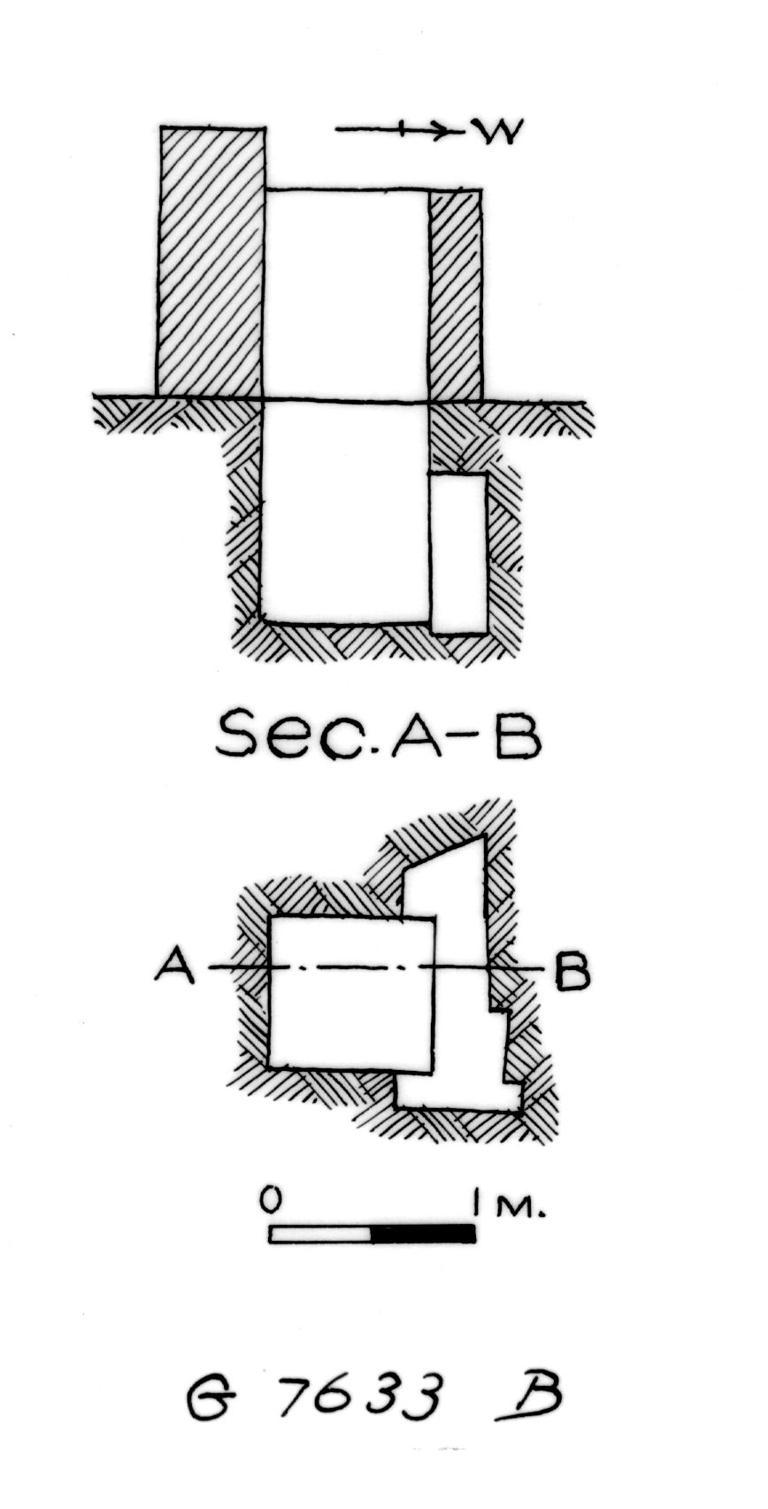 Maps and plans: G 7633, Shaft B