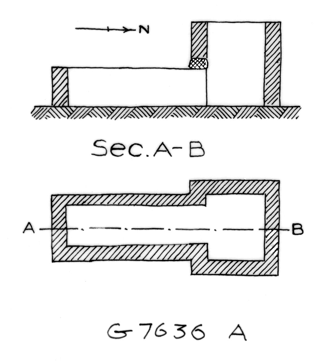 Maps and plans: G 7636, Shaft A